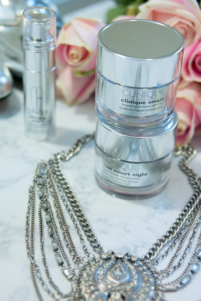 Clinique Smart custom line, caring for mature skin, botox in a bottle, wrinkle treatment, the best serum, moisturizer for aging skin