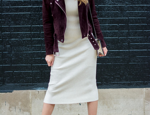 zara-rib-knit-bodycon-midi-dress-blank-nyc-burgundy-suede-moto-jacket-forever-21-cream-crossbody-black-pointed-justfab-ankle-boots