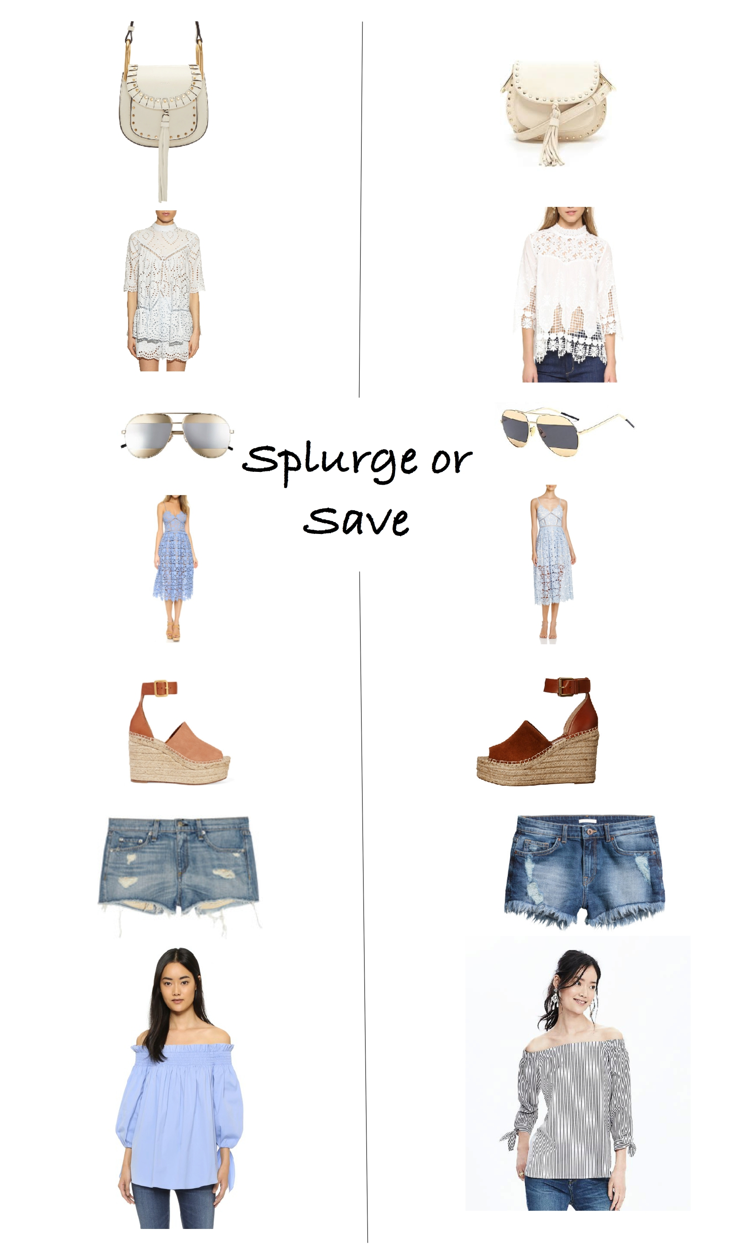 Spring 2016 splurge or save