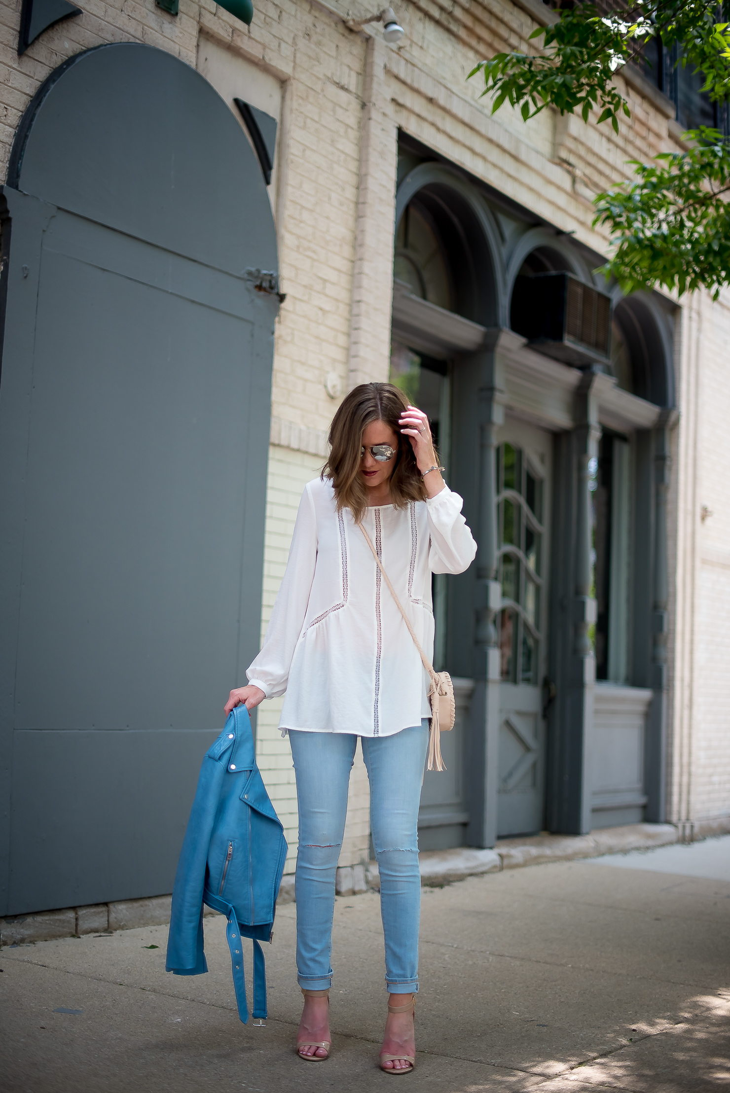 Cool Tones A Blue Moto Jacket Wishes Amp Reality