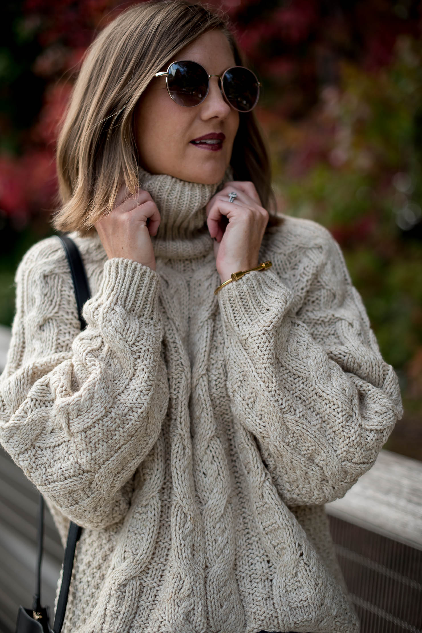 fall-in-chicago-hm-cable-oversized-turtleneck-sweater-girlfriend ... f7e529fae