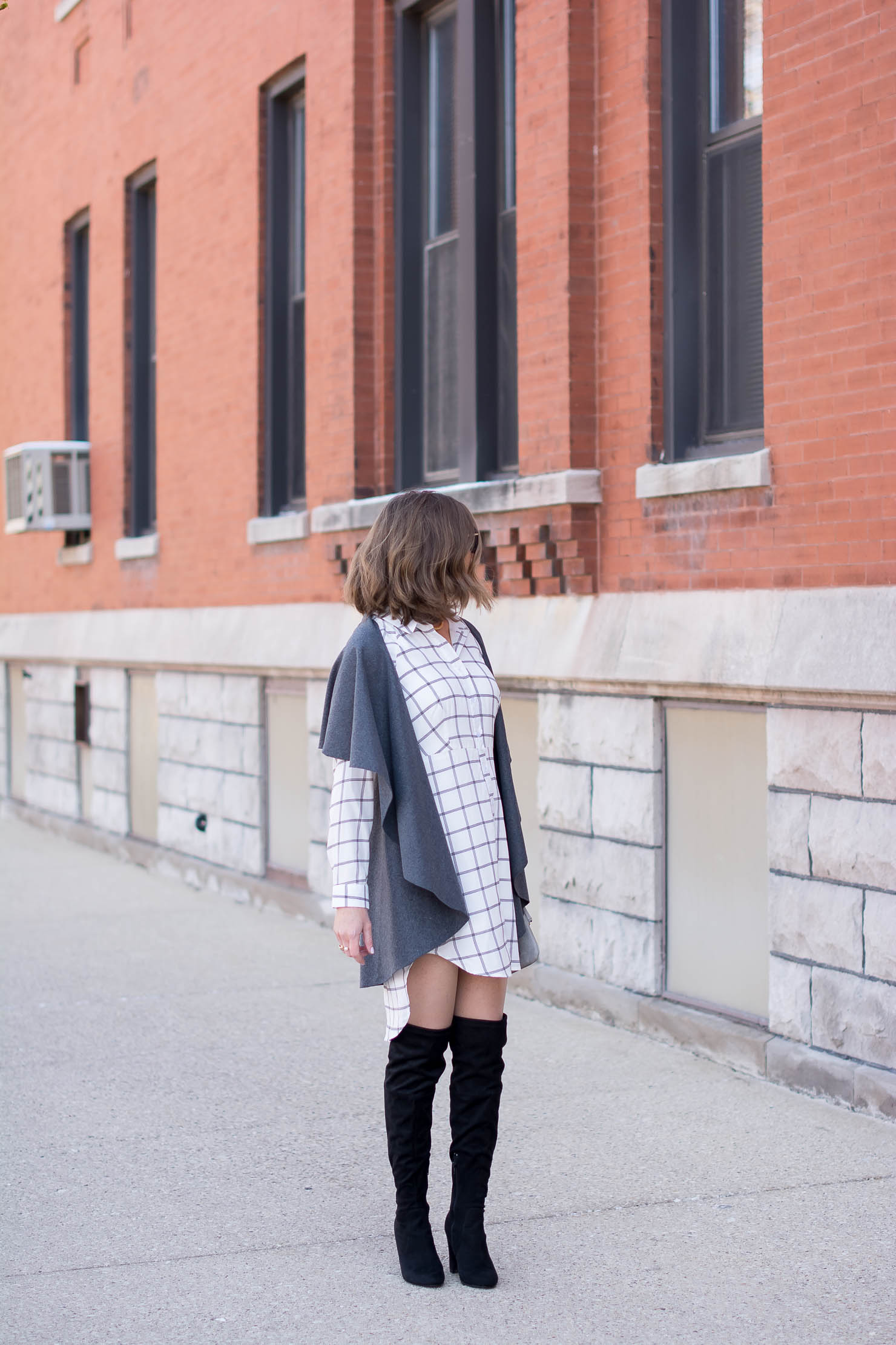 How To Wear A Shirt Dress In The Winter Fall And Winter Layers Over