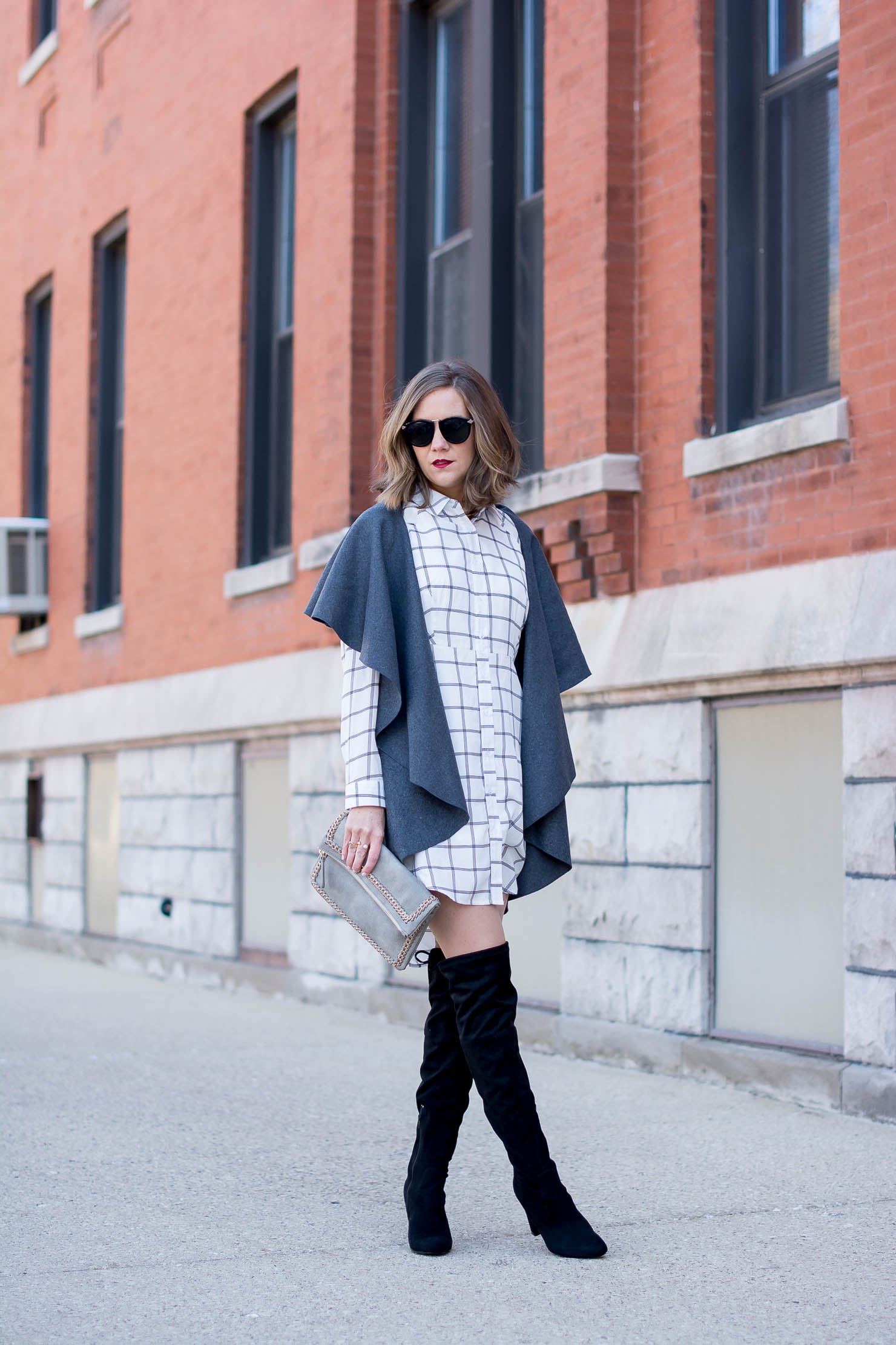74721c298bf How To Wear A Shirt Dress In Winter