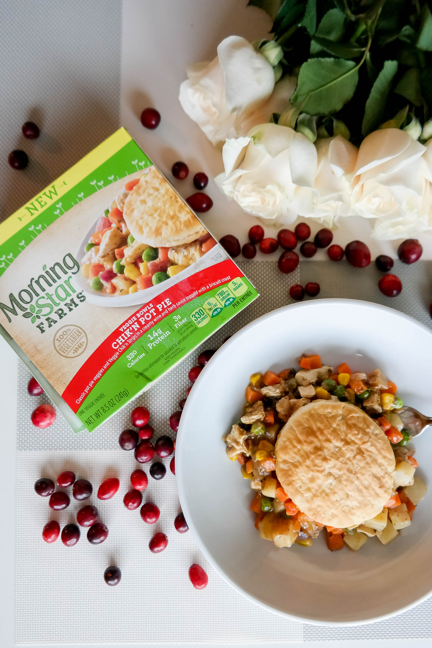 Making Healthier Choices Morningstar Farms Veggie Bowls Chicken Pot Pie Healthy Lifestyle Veggie Cuisine