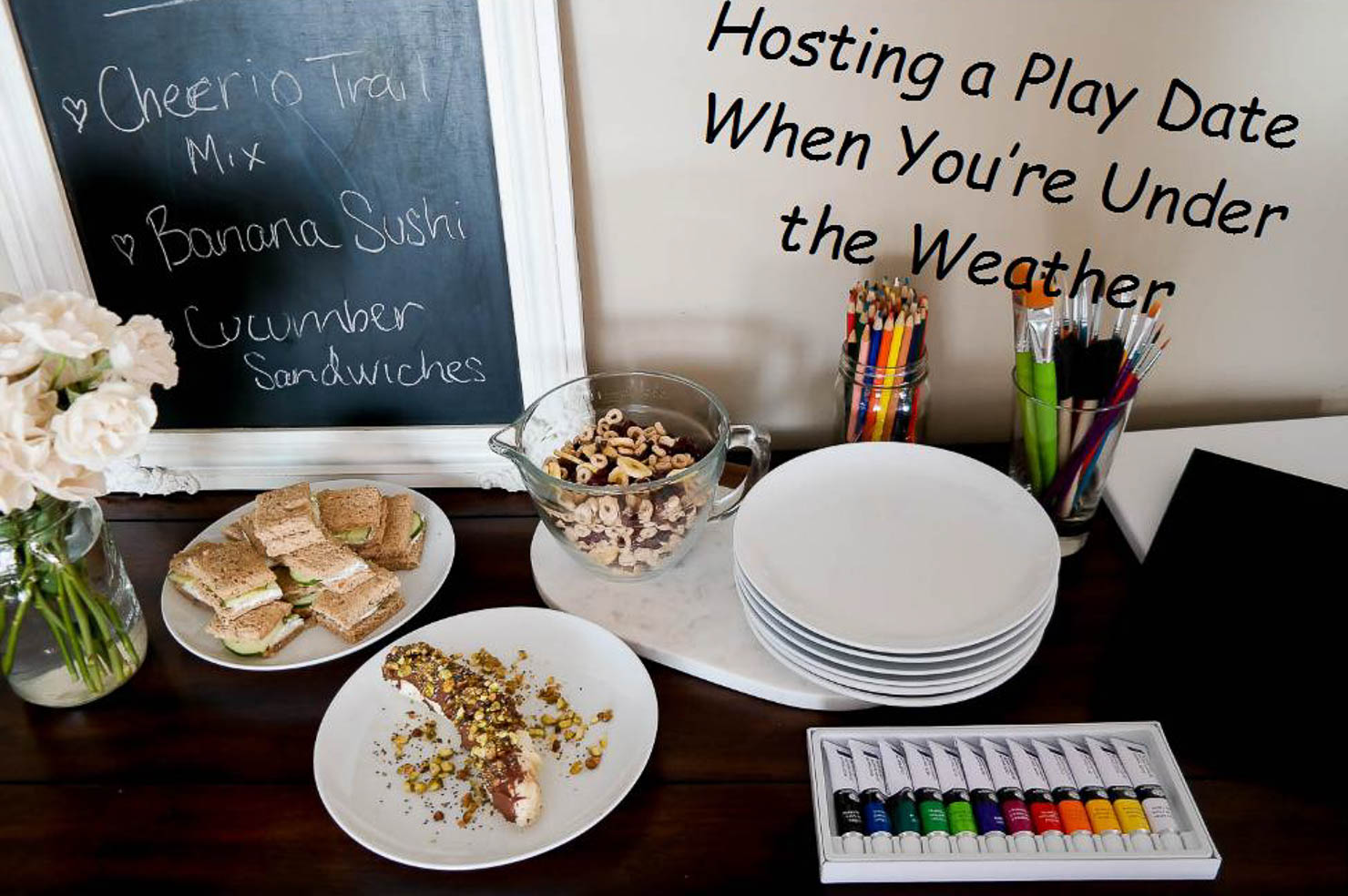 Back to School Party hosting a play date when your under the weather pfizer art party for kids healthy snacks for kids immune boosting smoothie