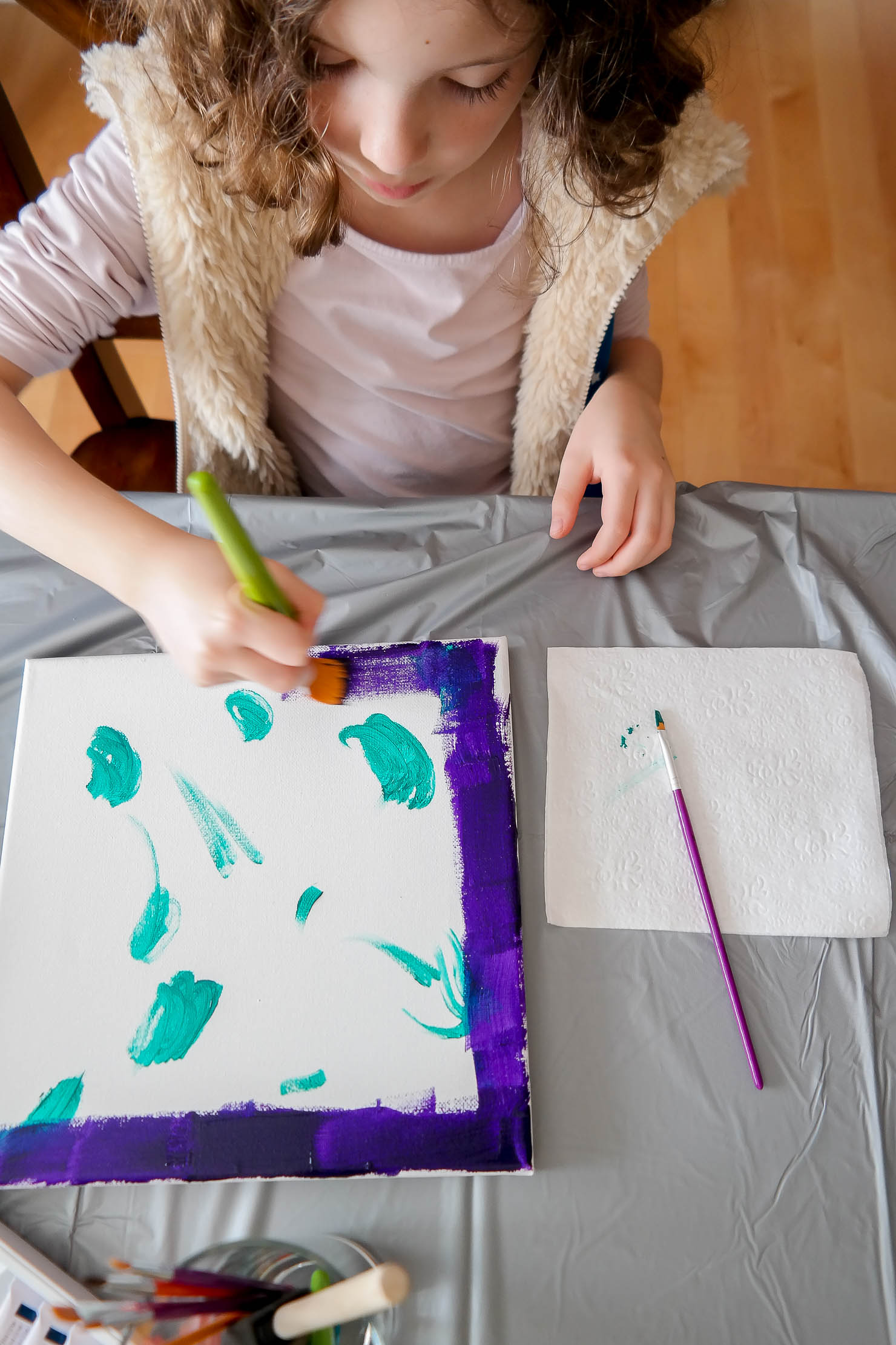 kids after school art party