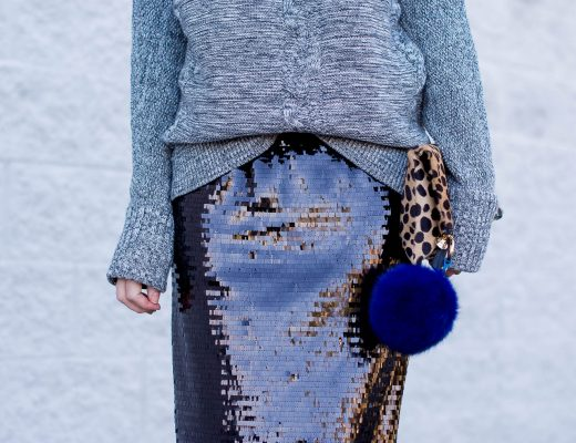who-what-wear-sequined-pencil-skirt-new-years-eve-outfit-idea-gap-grey-marled-sweater-cozy-glam