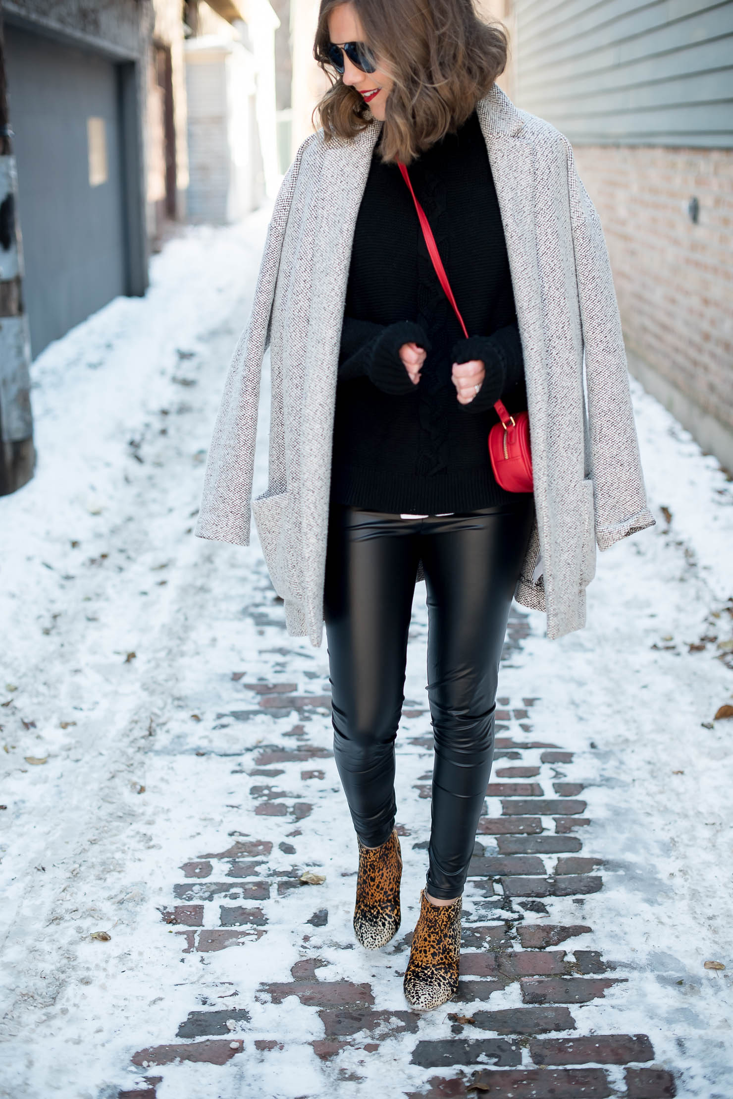 Leather Leggings Winter Outfit