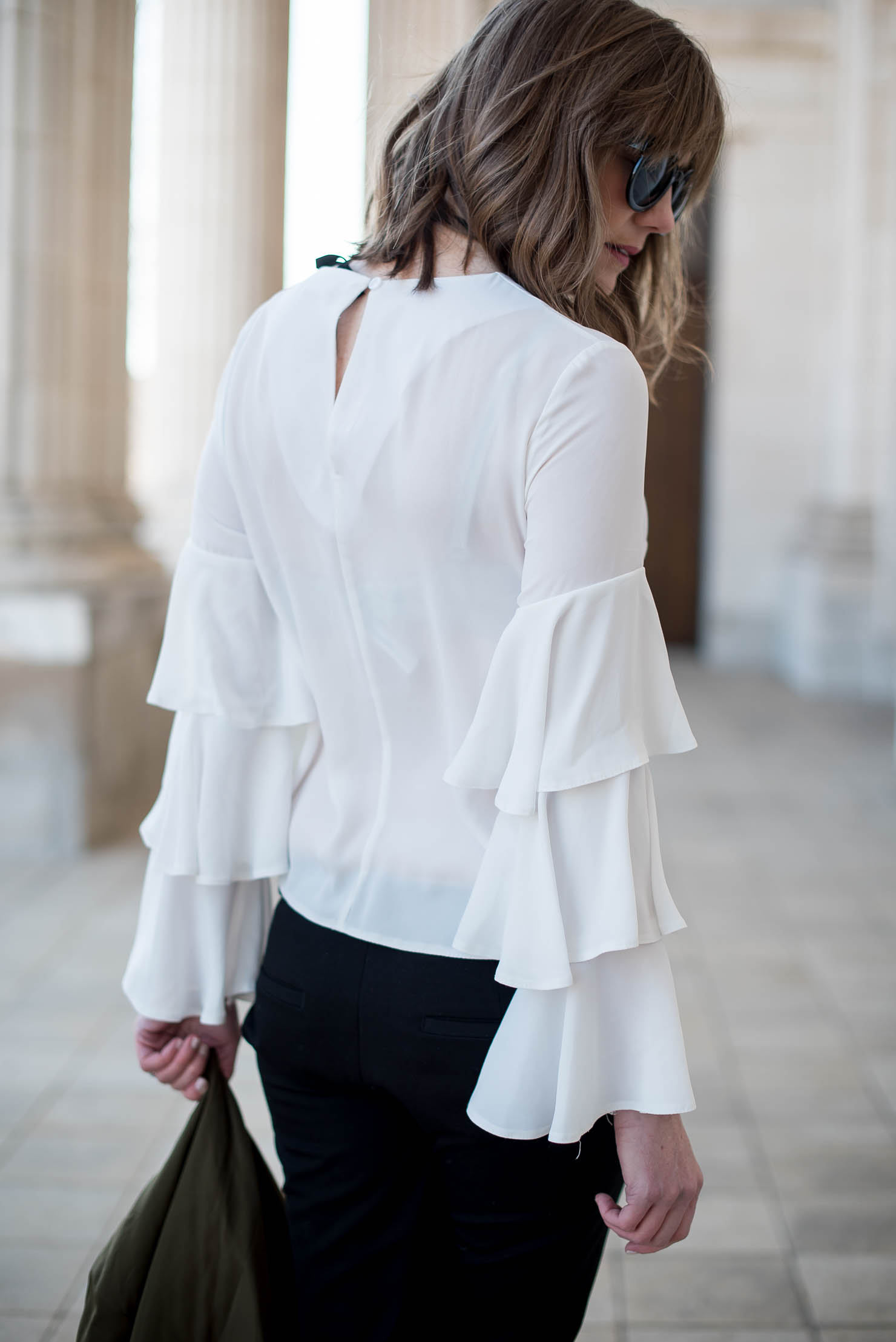 styling-a-ruffle-sleeve-blouse-springs-hottest-trend-bomber-jacket-spring-fashion-2017-zara-snakeskin-pumps