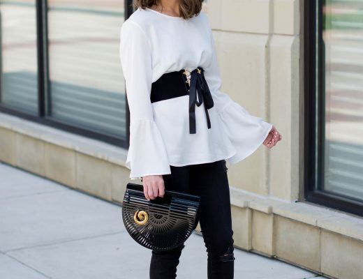 dynamite-white-bell-sleeve-blouse-how-to-wear-the-corset-belt-trend-new-adventures-how-to-incorporate-vintage