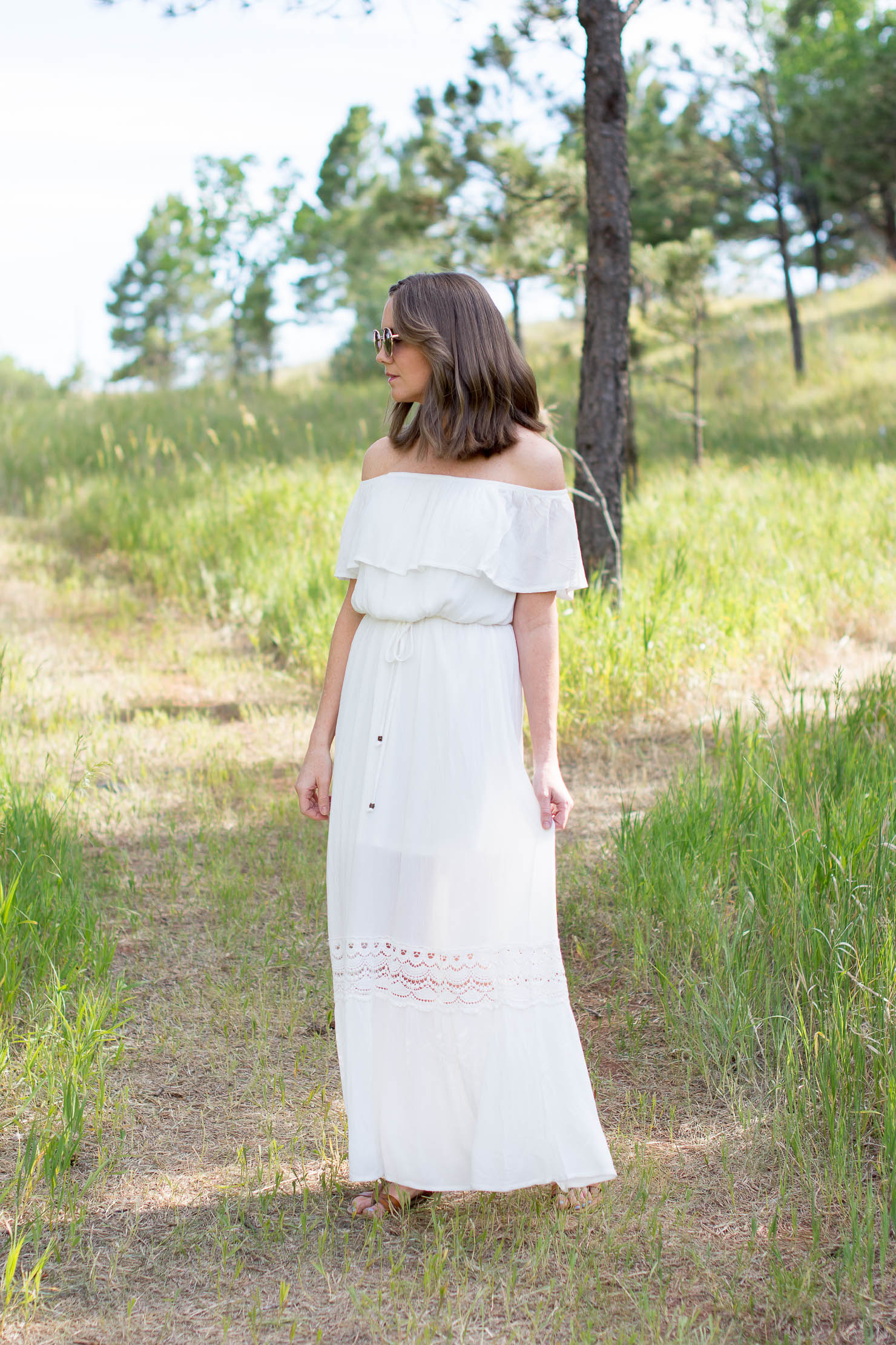 endless summer, 10 things you didn't know about me, off she shoulder white maxi dress, black hills
