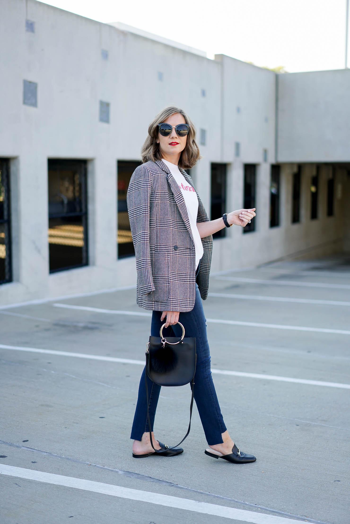 Fall Fashion Trends 2017 The Plaid Boyfriend Blazer Fashion Month Borrowed From The Boys Styling