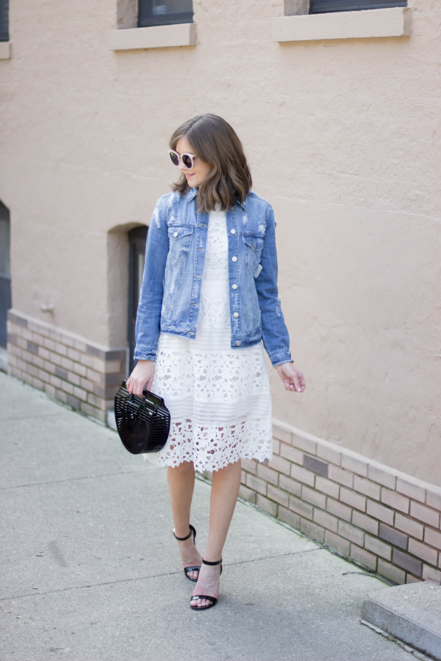 White lace dress after labor day