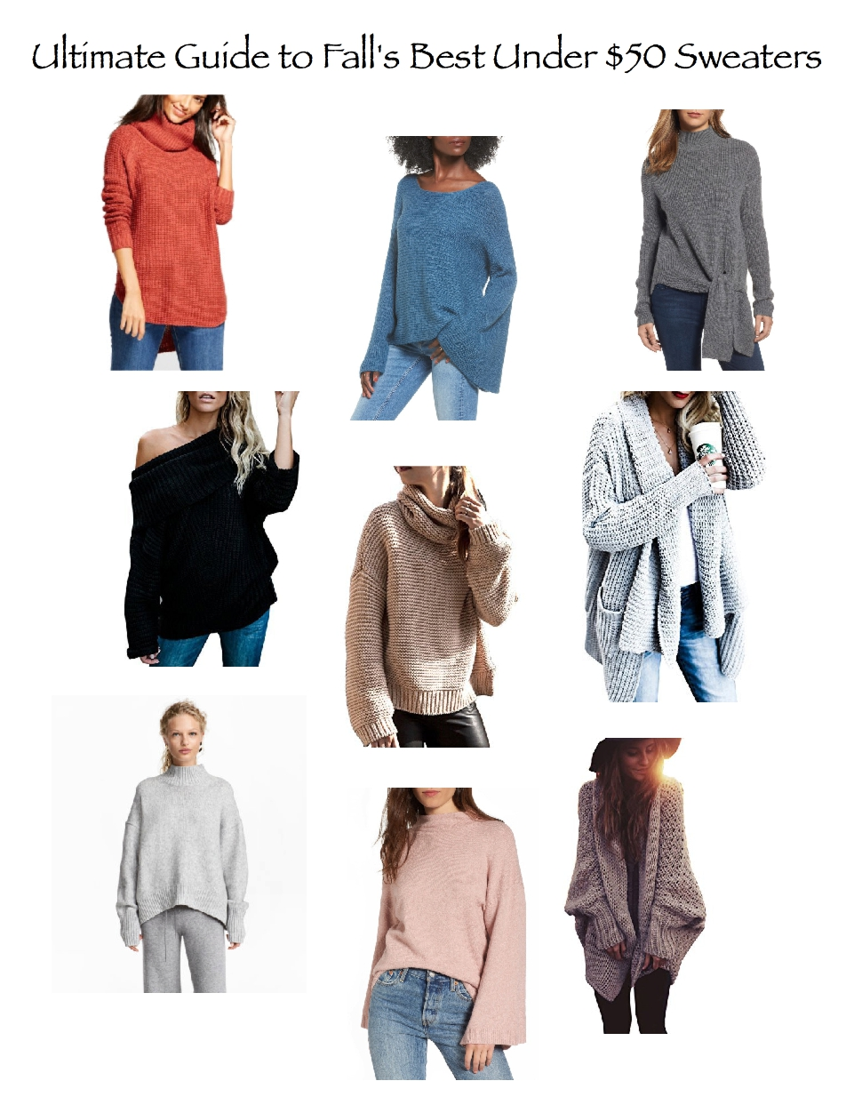 2017 ultimate guide to falls best under $50 sweaters, best sweater brands, chunky sweaters, cozy sweaters, under 50 sweaters
