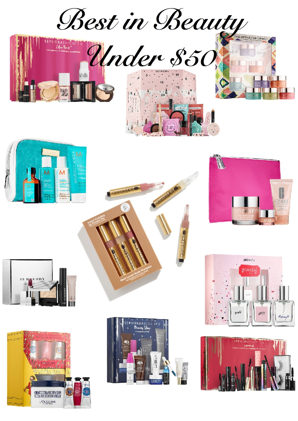 Best Under $50 Beauty Gift Sets, holday 2017, beauty gift guide, under $50, sephora, best gift sets from sephora