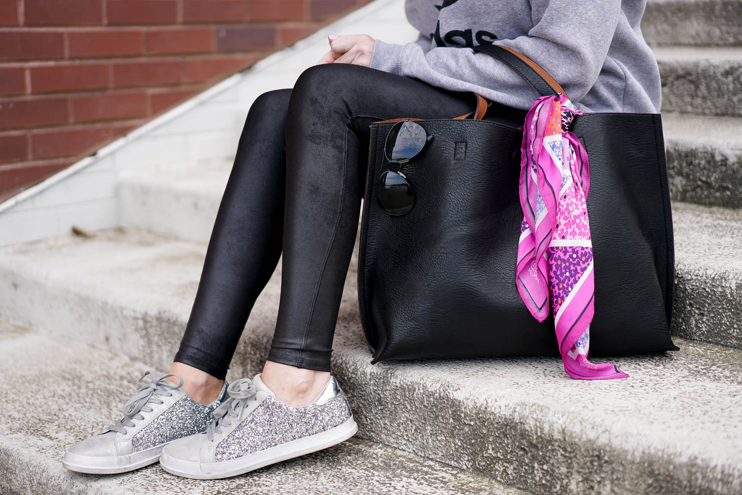 athleisure trend, my love of athleisure, the faux leather leggings that will change your life, faux leather leggings anyone can wear, the most slimming legging, sucks you in but still comfortable