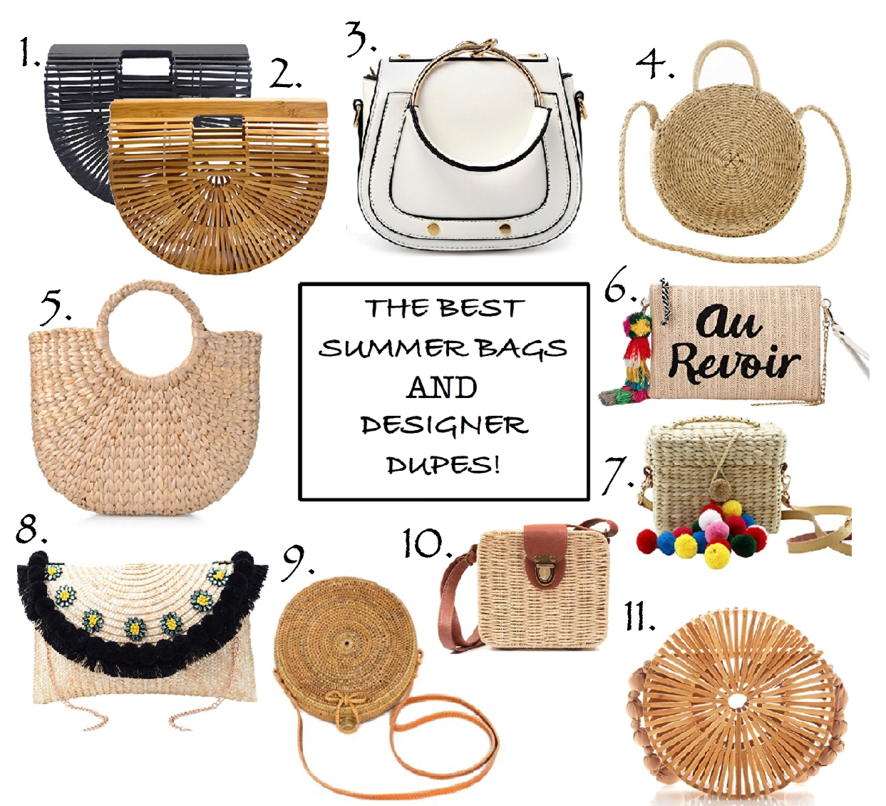 must have spring bags and designer dupes of summer 2018, cult gaia dupe, woven bags, basket bags, summer 2018 handbag trends