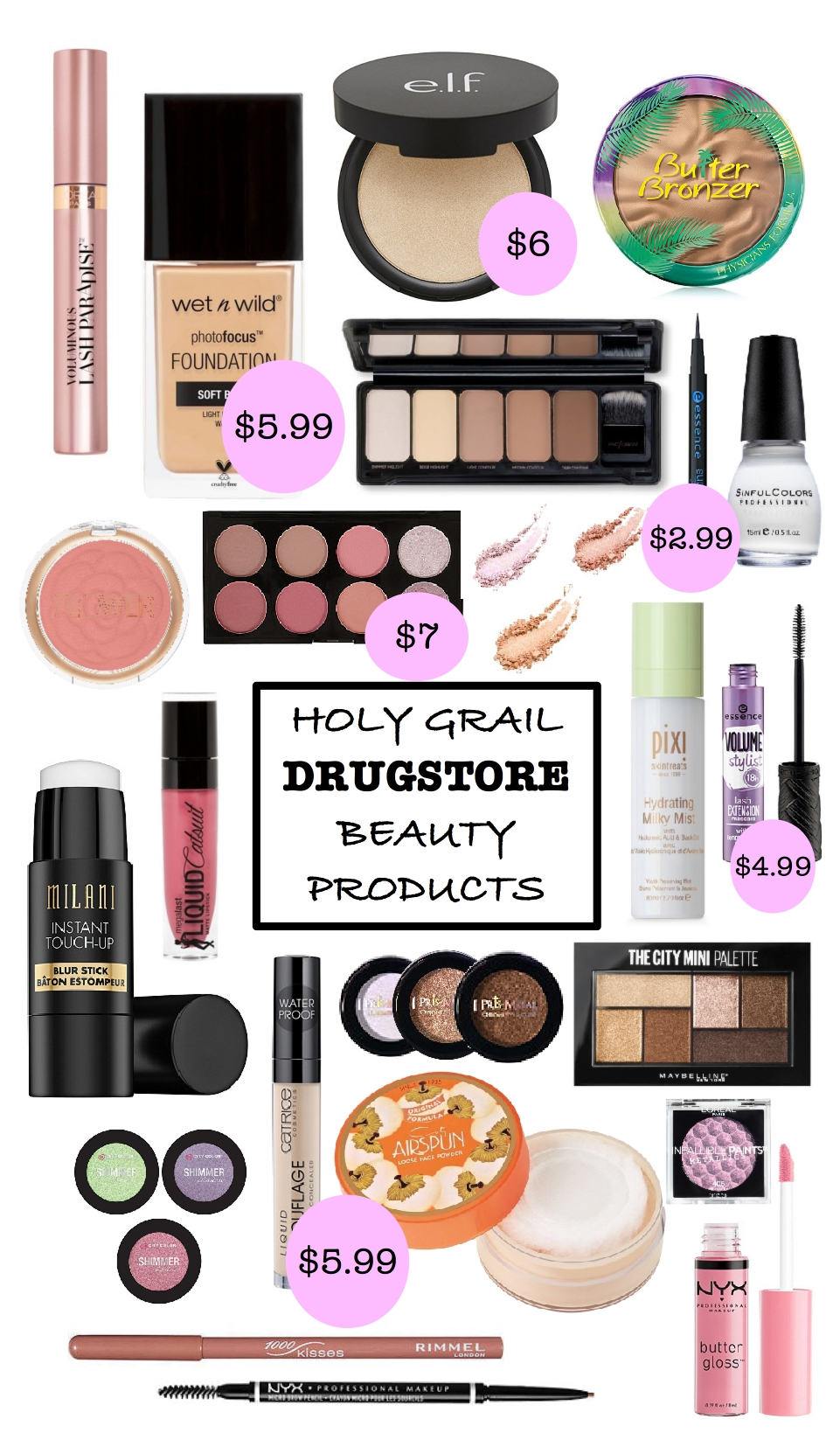 best drugstore makeup, best under 10 makeup, best makeup dupes, shape tape dupe, best of beauty, holy grail drugstore makeup