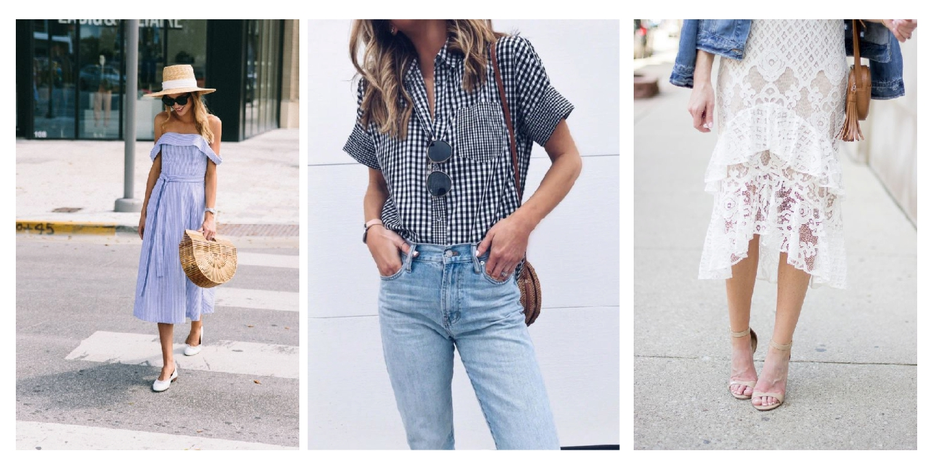 score-springs-5-biggest-trends-on-sale, how-to-score-spring-trends-on-sale-blue-and-white-stripes-lace-gingham