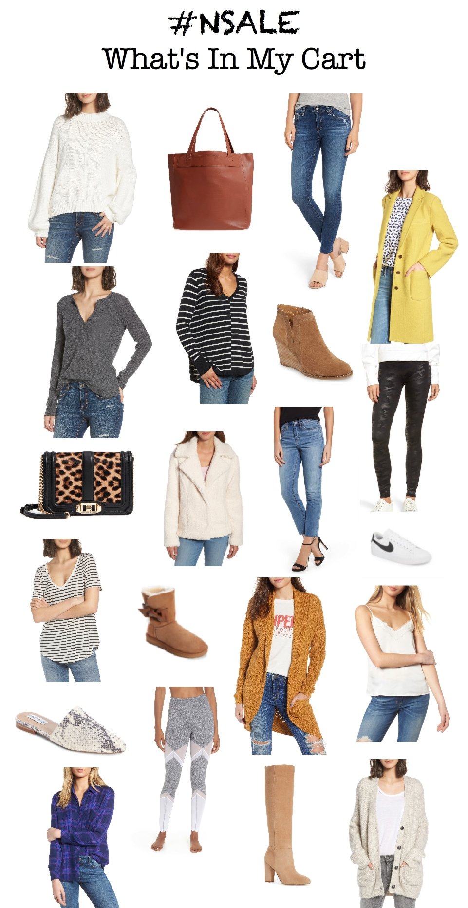 nsale, what is in my cart, guide to fall fashion 2018