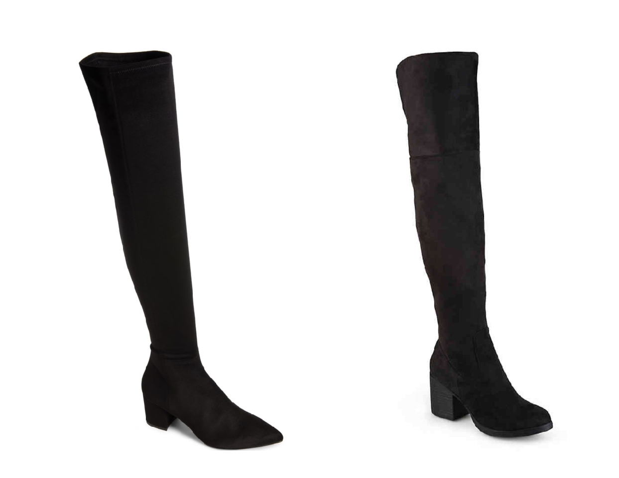 nordstrom anniversary sale dupes, black over the knee boots