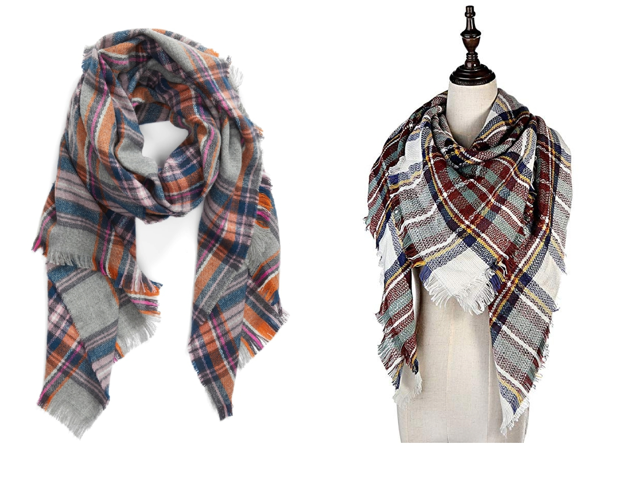 nordstrom anniversary sale dupes, plaid blanket scarf