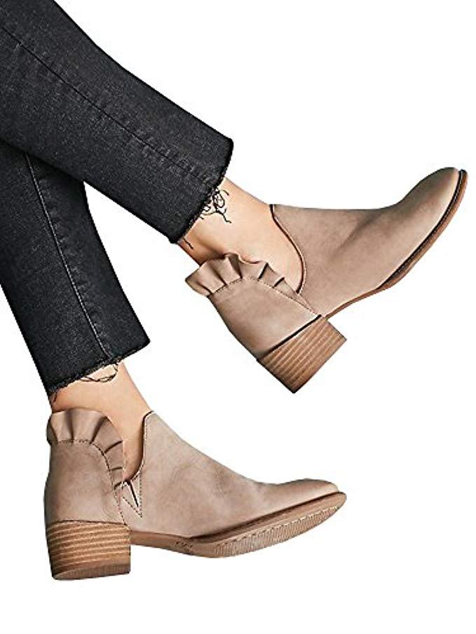 January's Top Ten, ruffle ankle booties, amazon fashion