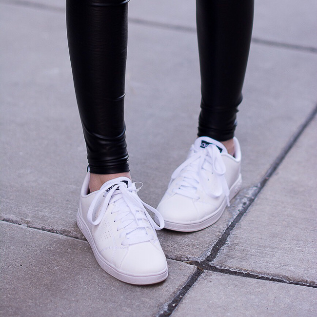 Adidas Neo Clean Advantage sneakers, adidas, street style, black and white outfit