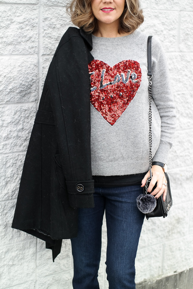 H&M Love Is sweater