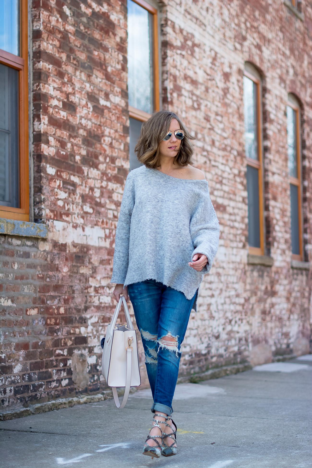 grey-off-the-shoulder-sweater-boyfriend-jeans-snakeskin-heels-blush-satchel-8