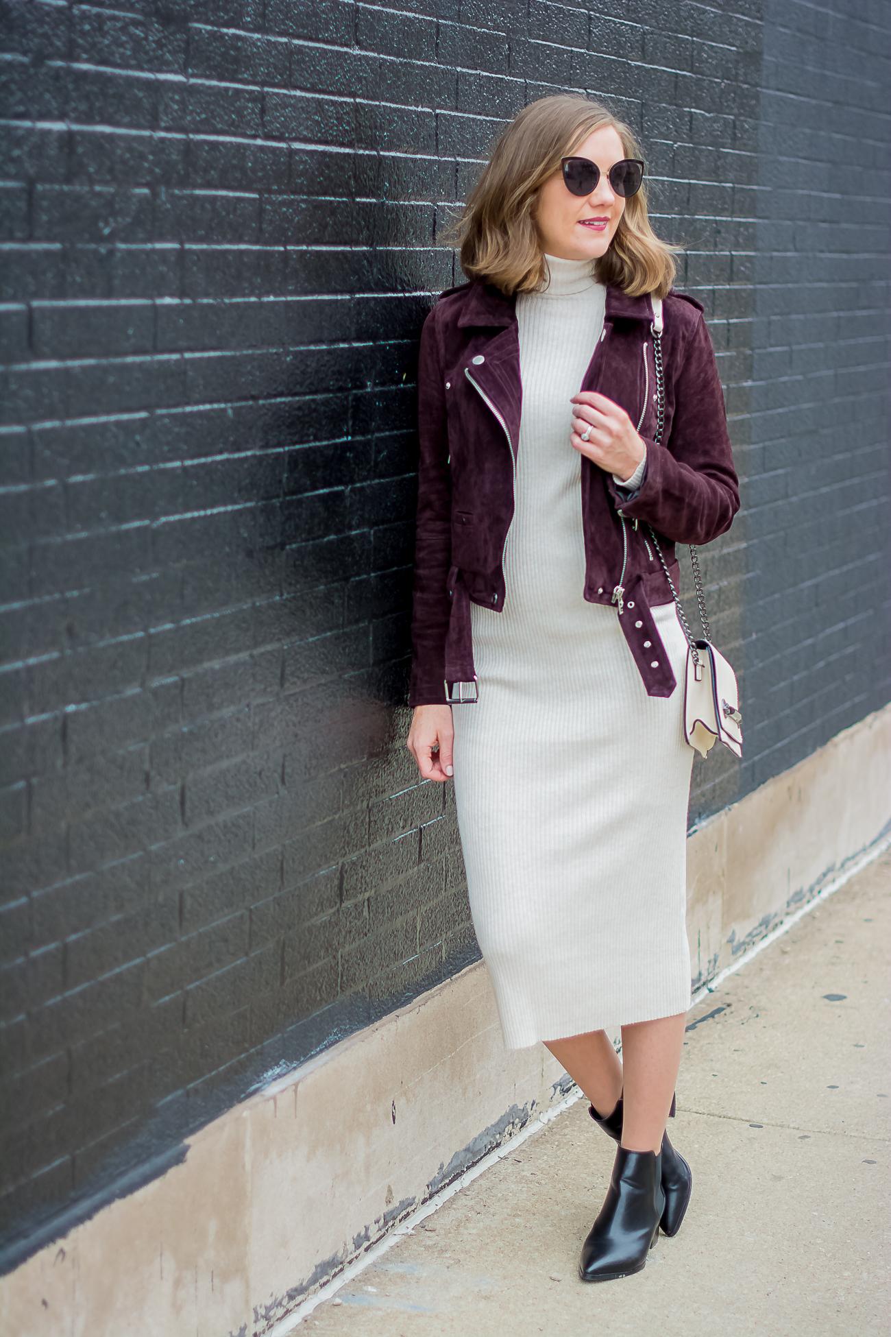e1e93b30 zara-rib-knit-bodycon-midi-dress-blank-nyc-burgundy-suede-moto ...