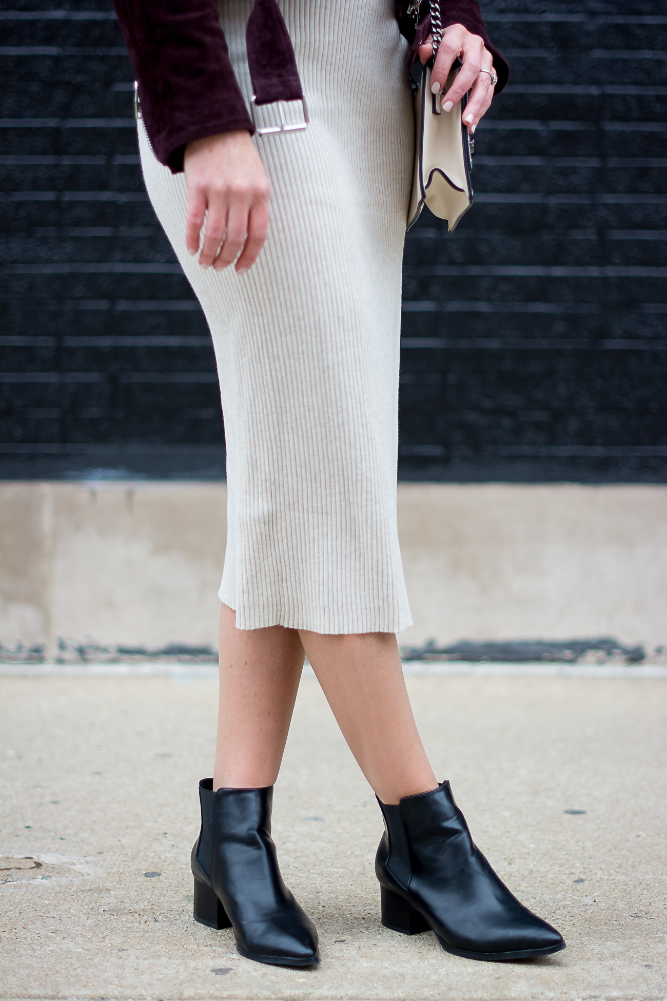 e4c6abc7ee zara-rib-knit-bodycon-midi-dress-blank-nyc-burgundy-suede-moto ...