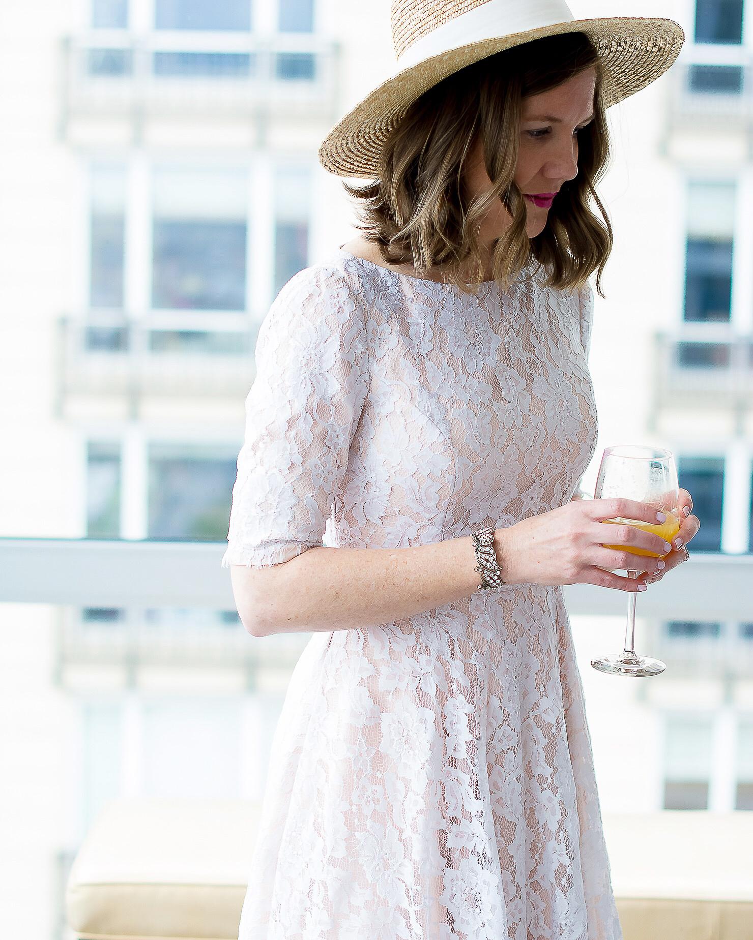 kentucky-derby-dress-ml-mounique-lhuillier-white-lace-dress