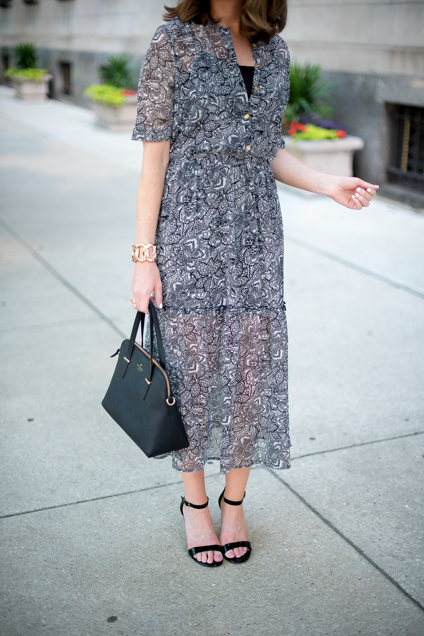 target-who-what-wear-printed-midi-dress-classic-feminine-ladylike-kate-spade-cedar-maise-gold-details-chicago-drake-hotel-13