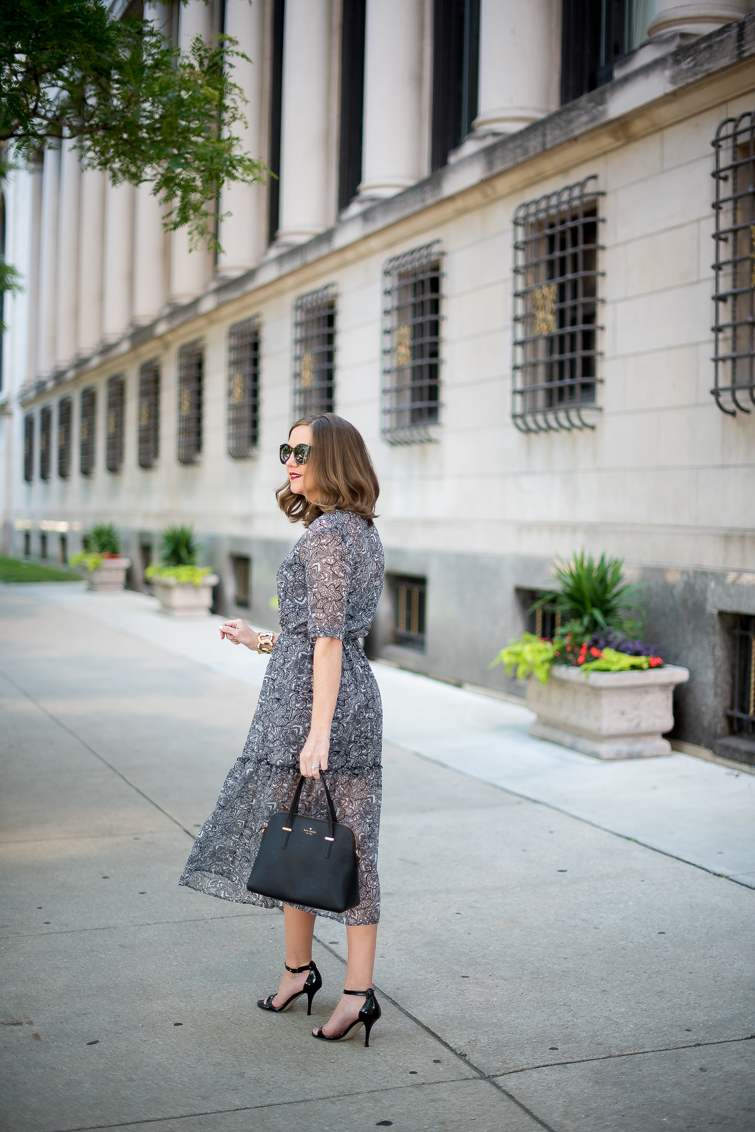 target-who-what-wear-printed-midi-dress-classic-feminine-ladylike-kate-spade-cedar-maise-gold-details-chicago-drake-hotel-22