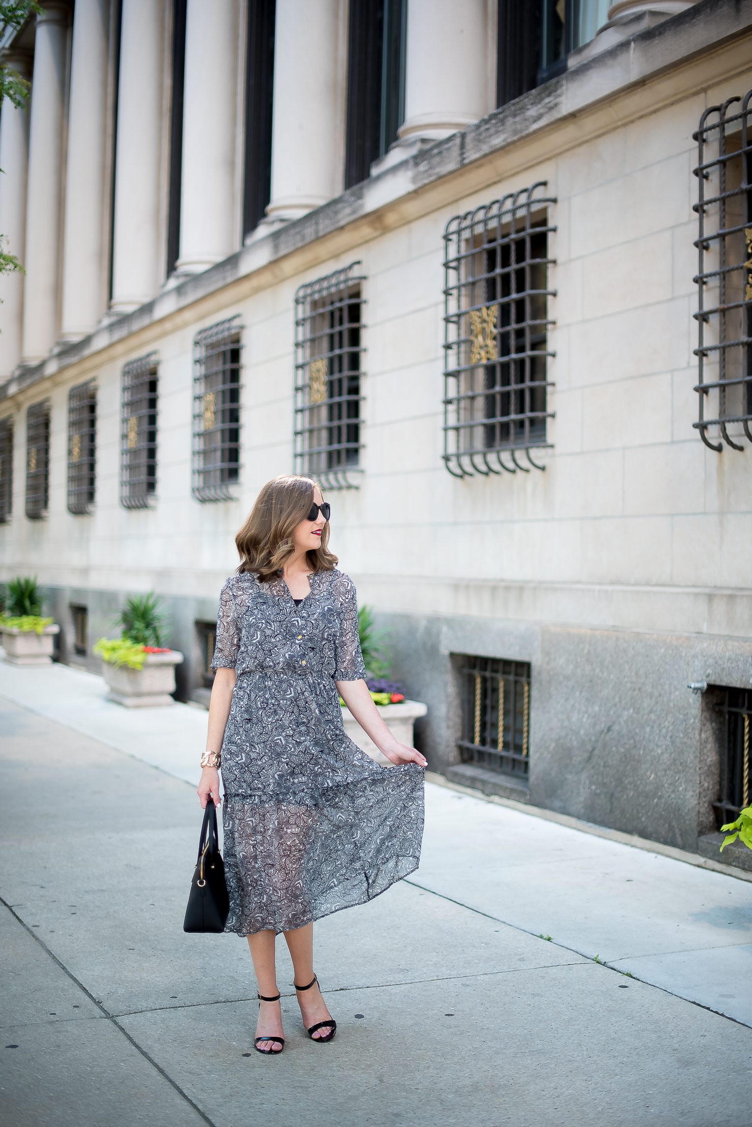 target-who-what-wear-printed-midi-dress-classic-feminine-ladylike-kate-spade-cedar-maise-gold-details-chicago-drake-hotel-8