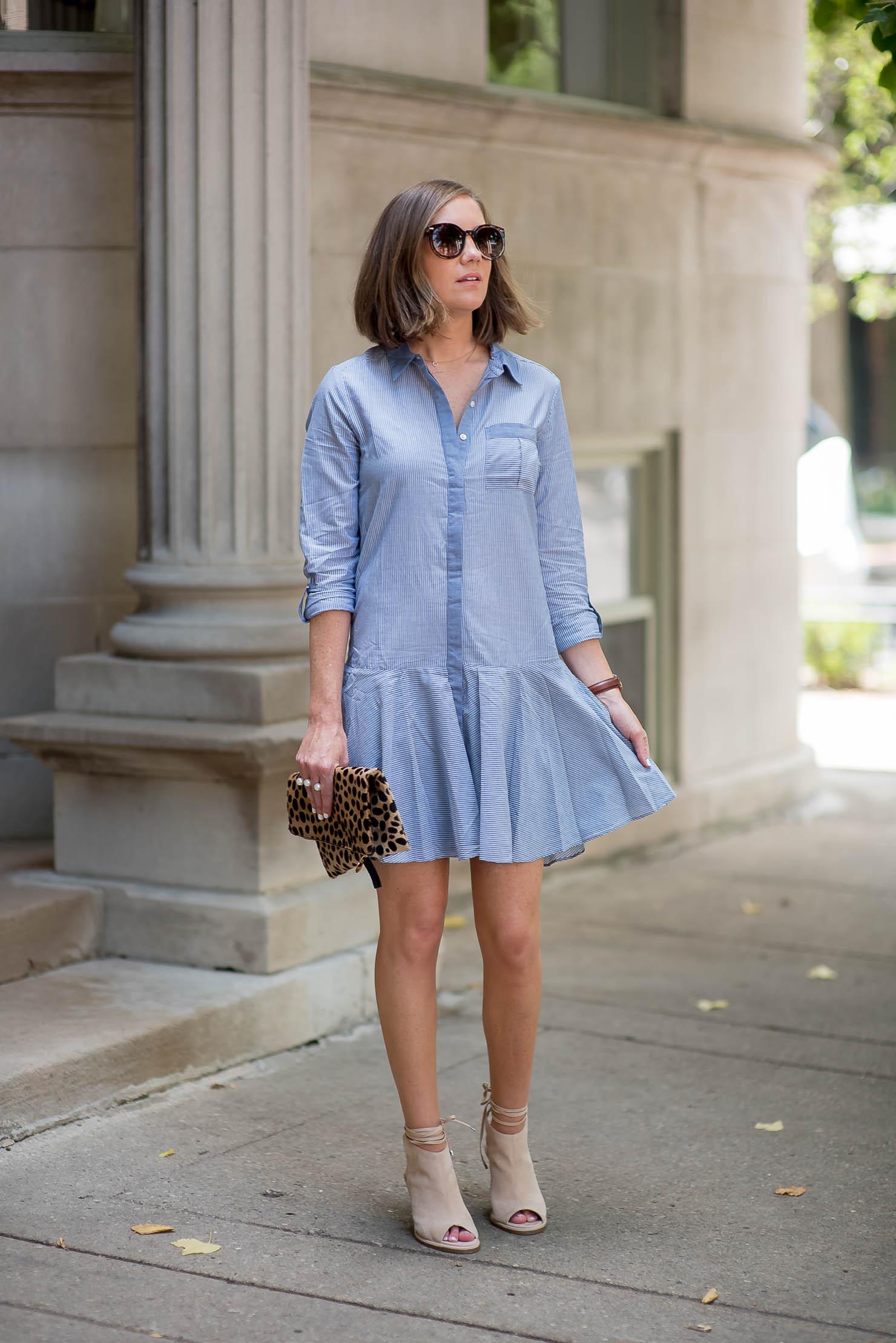 peep toe booties with dress