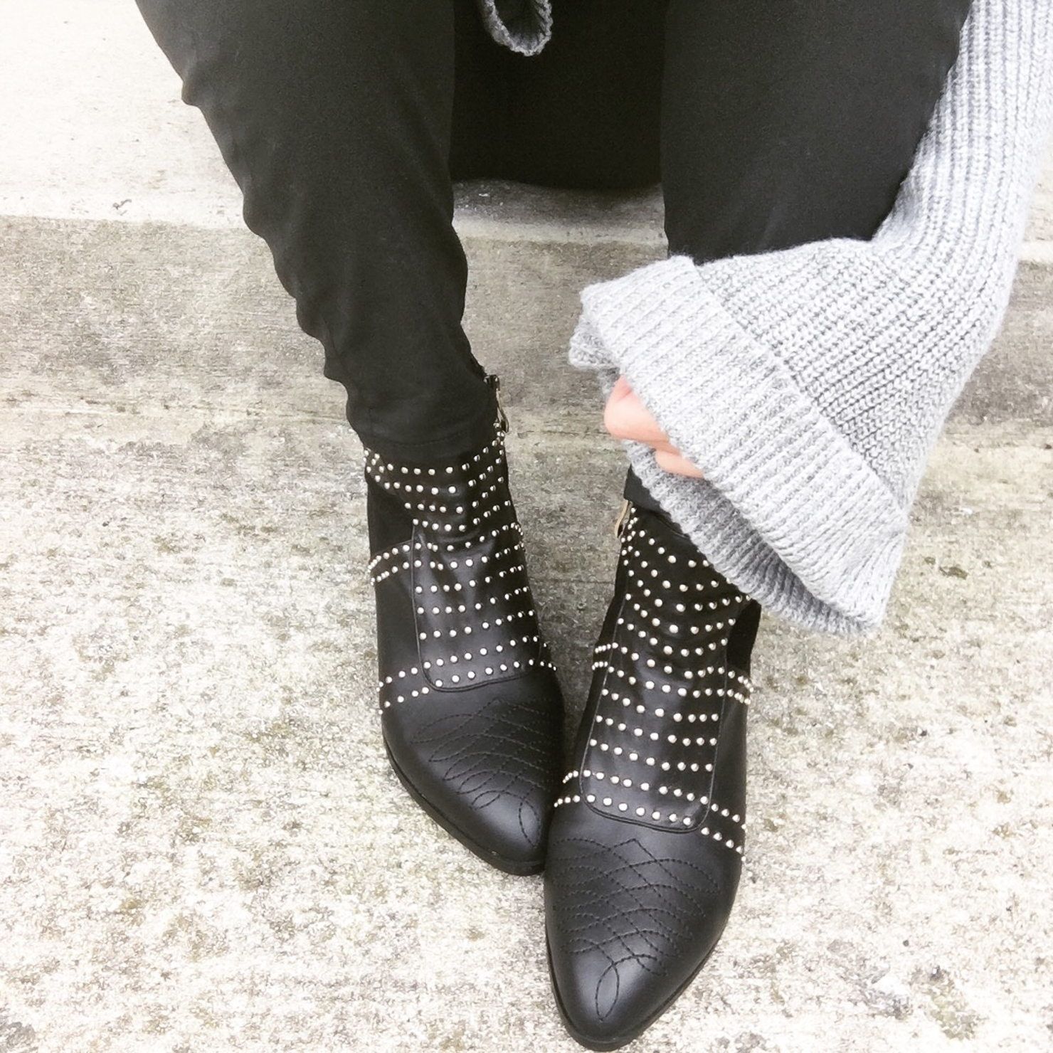 anine-bing-studded-black-booties-instagram