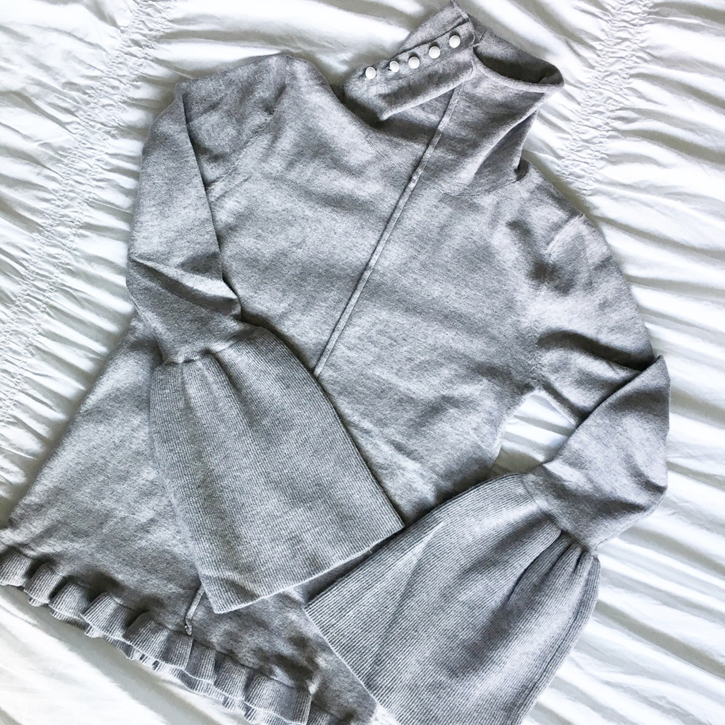 shein-grey-bell-sleeve-sweater-with-ruffle-detail