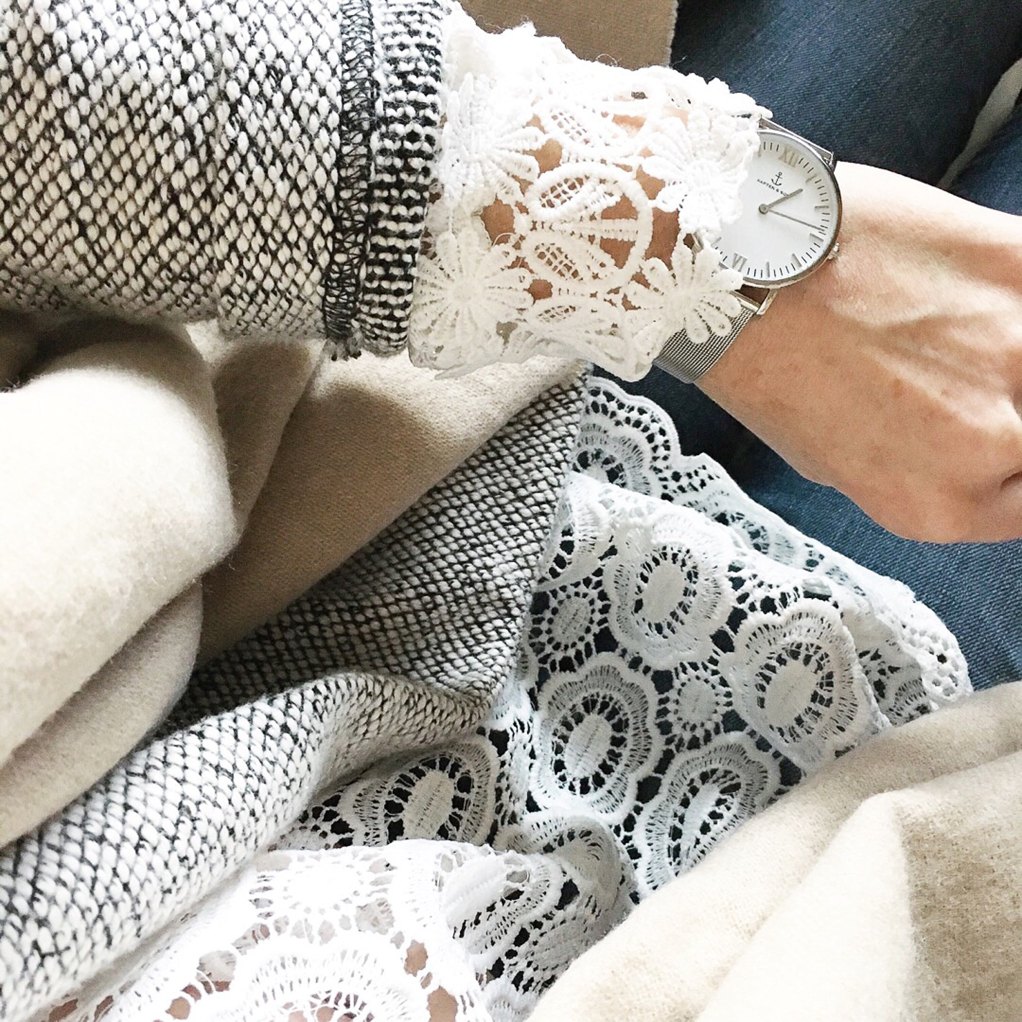 Instagram warm and cozy with lace details