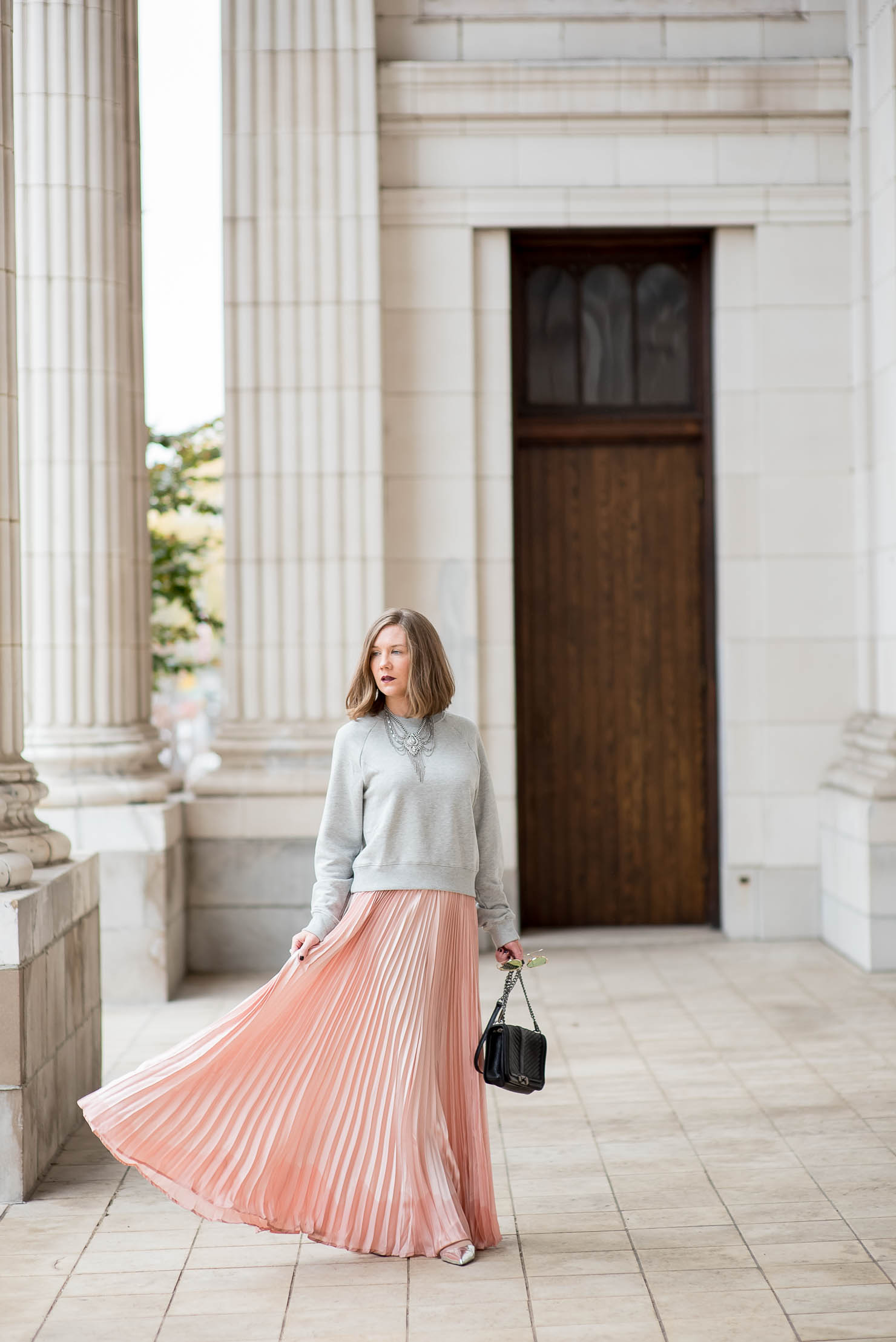 e8a6fac368 a-dramatic-pink-skirt-for-the-holidays-christmas-outfit-cozy-glam ...
