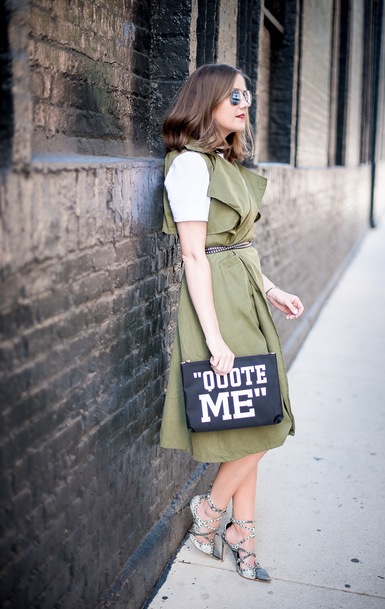 A Year in Review: My Favorite Outfits of 2016, styling a sleeveless trench as a dress