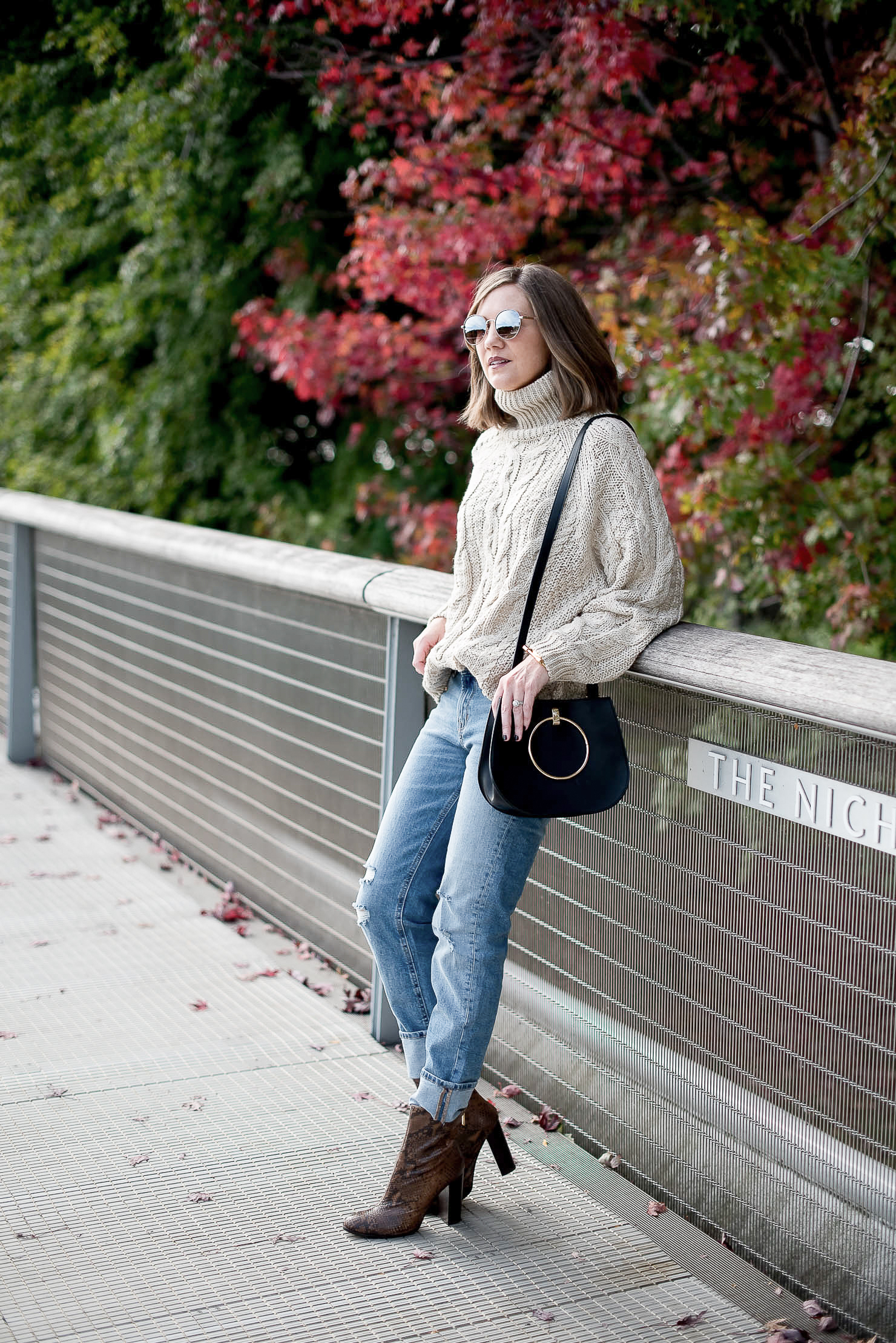A Year in Review: My Favorite Outfits of 2016, a cozy fall outfit and snakeskin booties