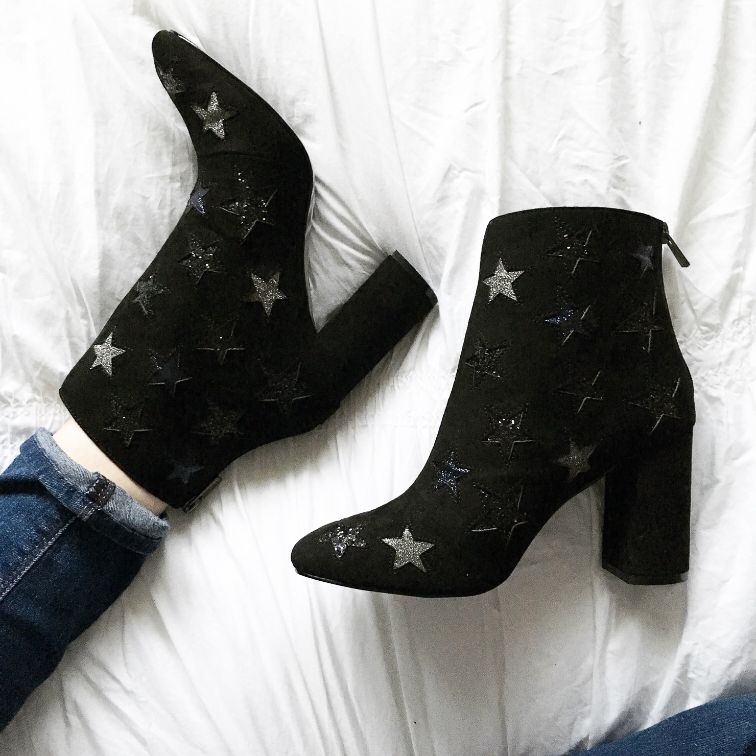 instagram-booties-with-star-applique-under-$100