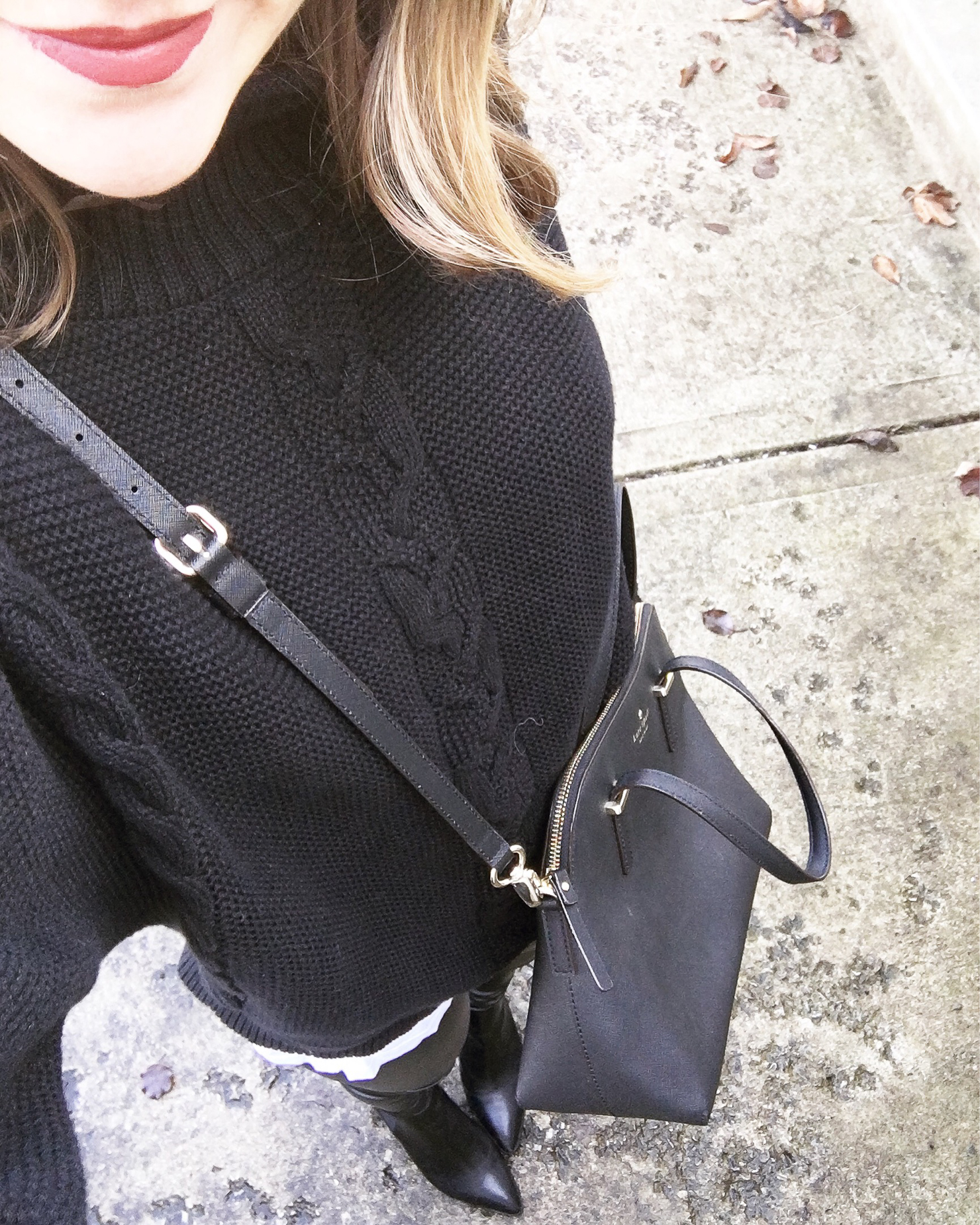 instagram-monochromatic-black-outfit-leather-leggings-kate-spade-cedar-maise