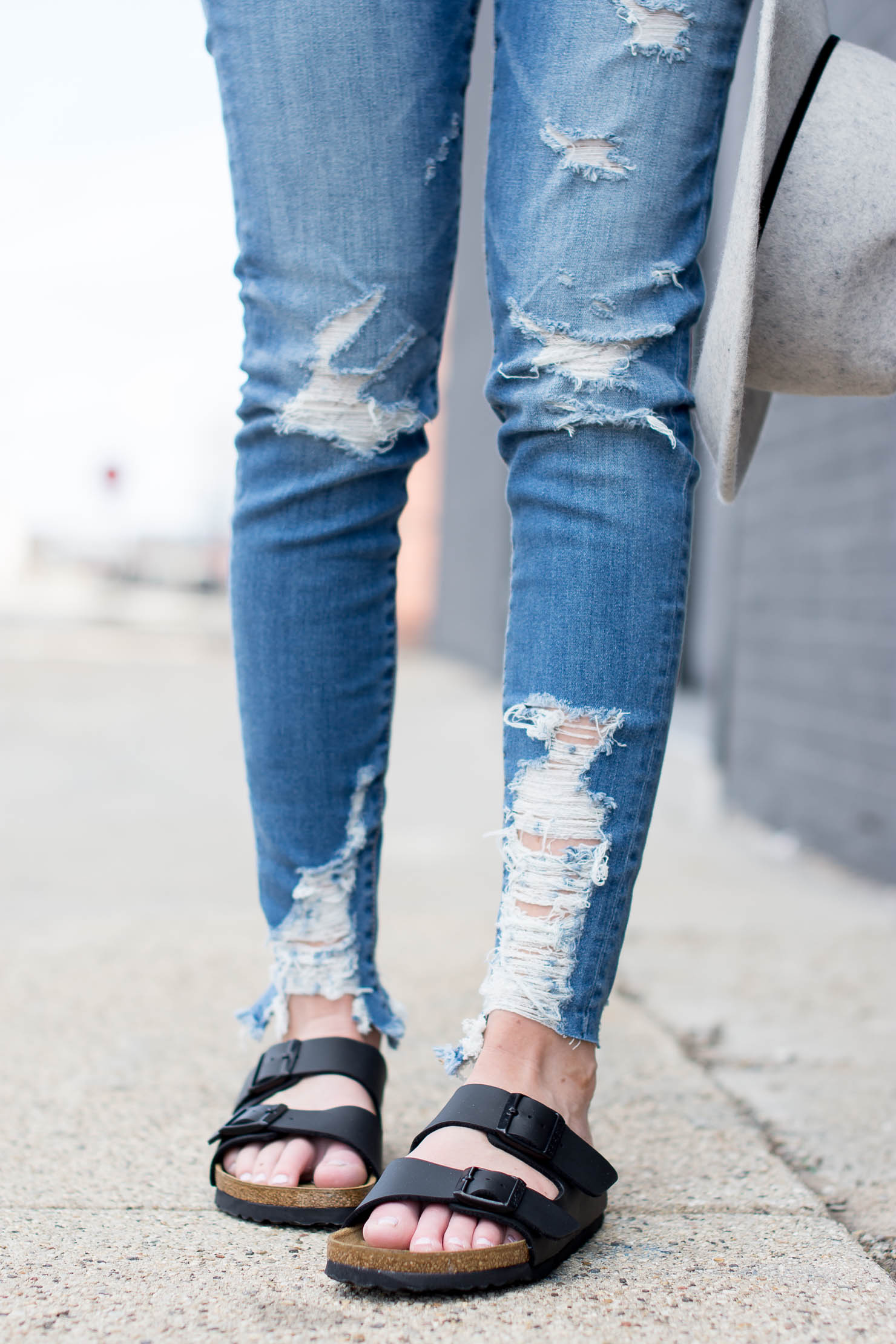 stepping into spring with birkenstocks and famous footwear, how to style birkenstocks, real girl style, comfy and cute