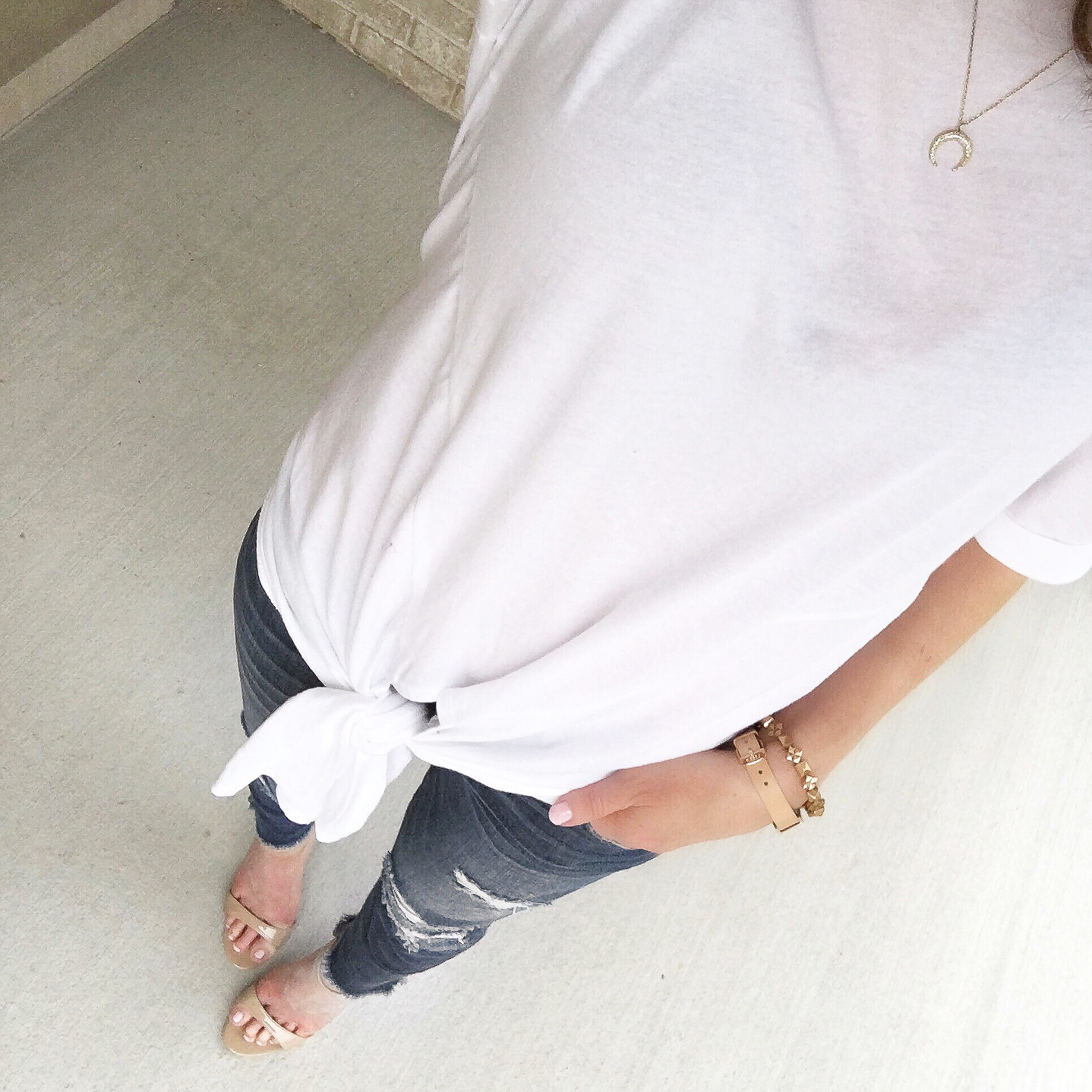 my favorite outfits for summer, Instagram, life lately, front tie tee shirt
