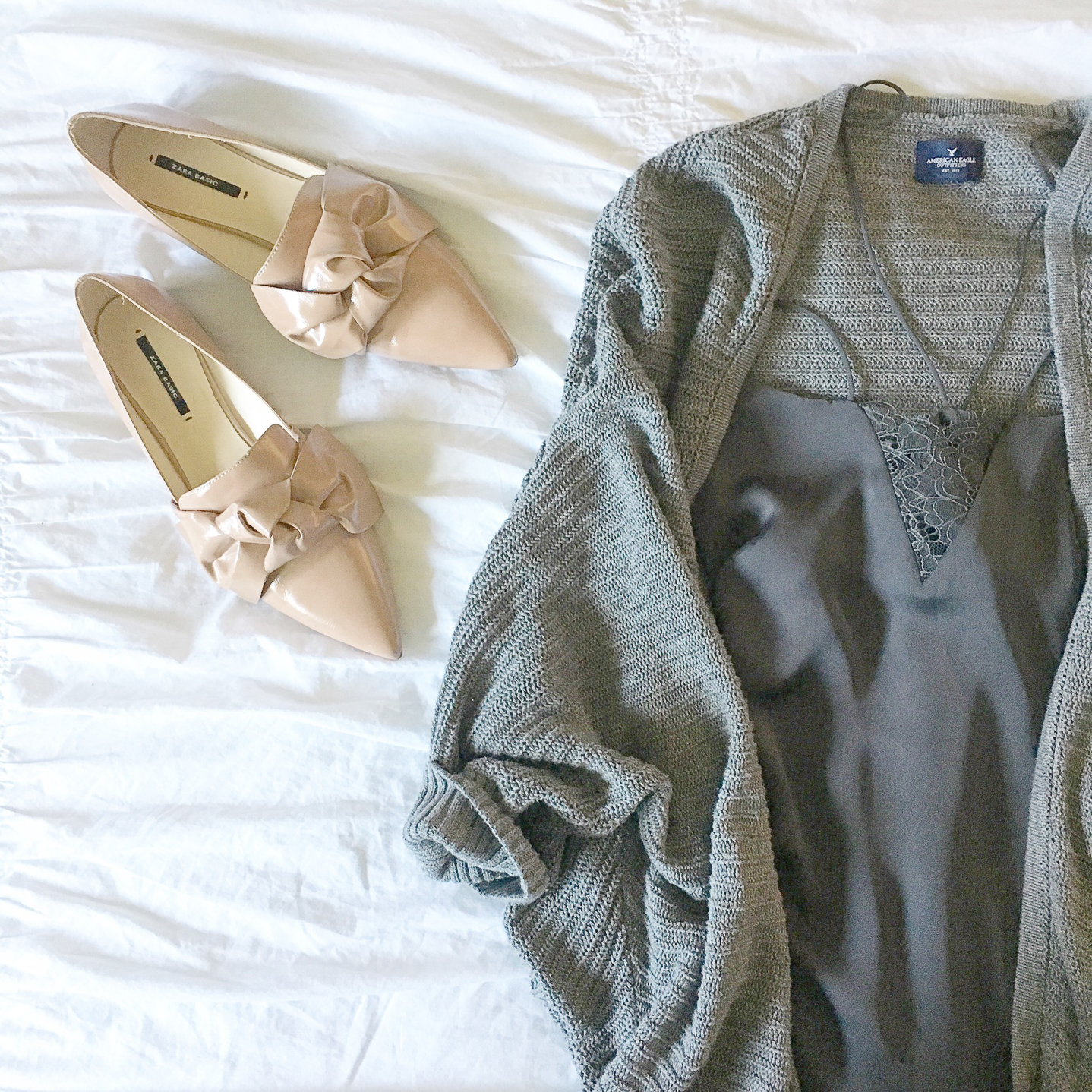 my favorite outfits for summer, Instagram, life lately, grey lace detail slip dress, blush bow flats