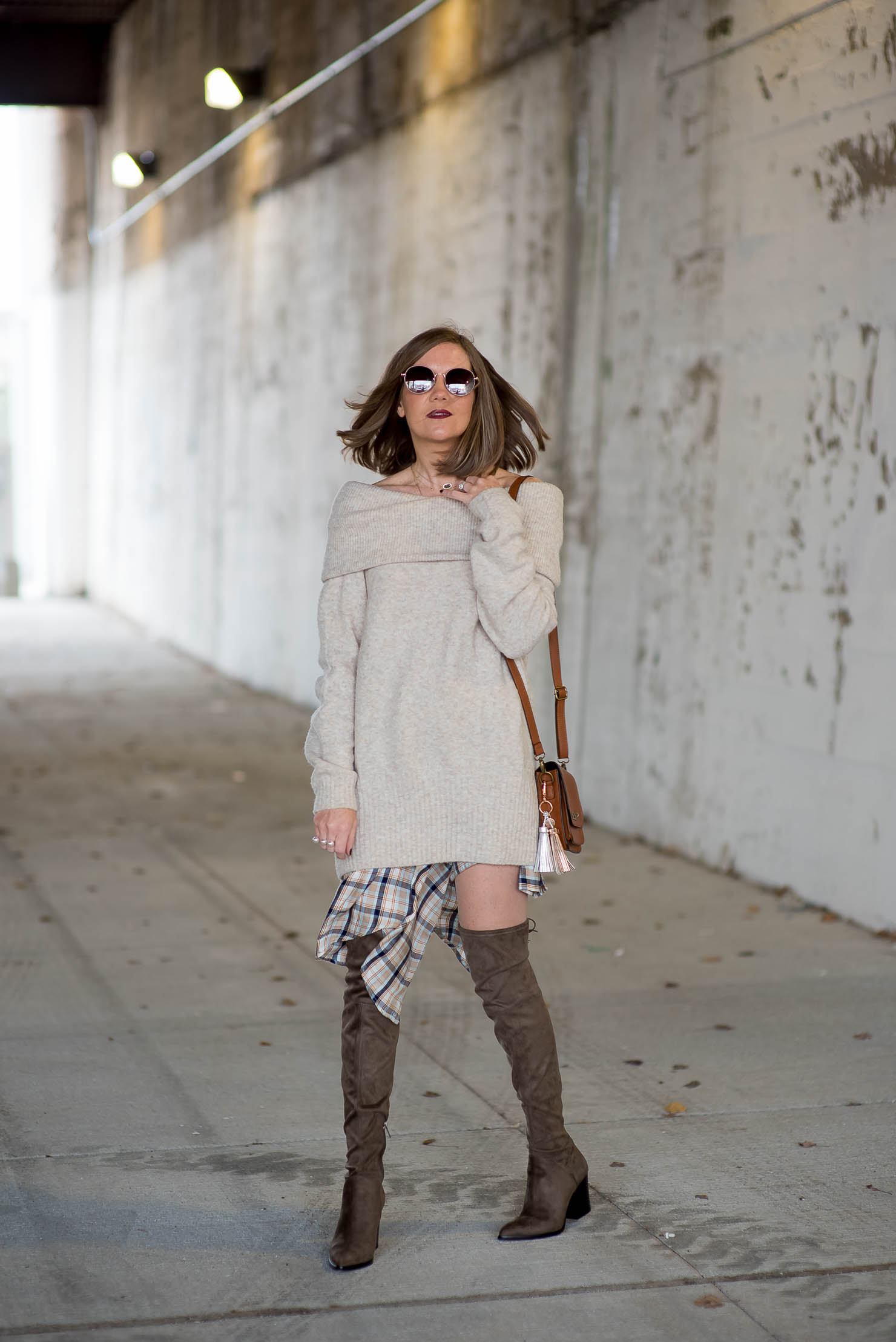 nordstrom anniversary sale, best under $100, oversized off the shoulder sweater, marc fisher over the knee boots