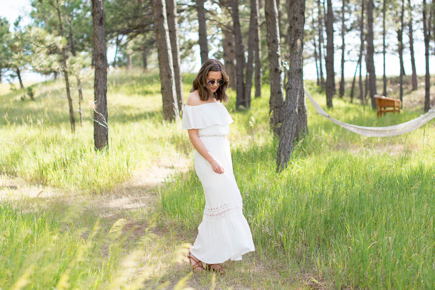 endless summer, 10 things you don't know about me, off she shoulder white maxi dress, black hills